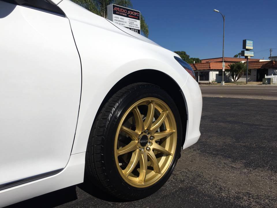Gold Rims from Audiosport Escondido