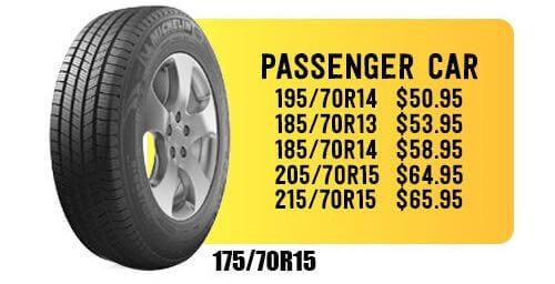 Special for cheap tires at Audiosport Escondido.