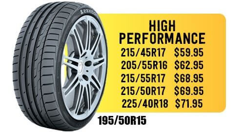 Cheap high performance tires in Escondido on sale.