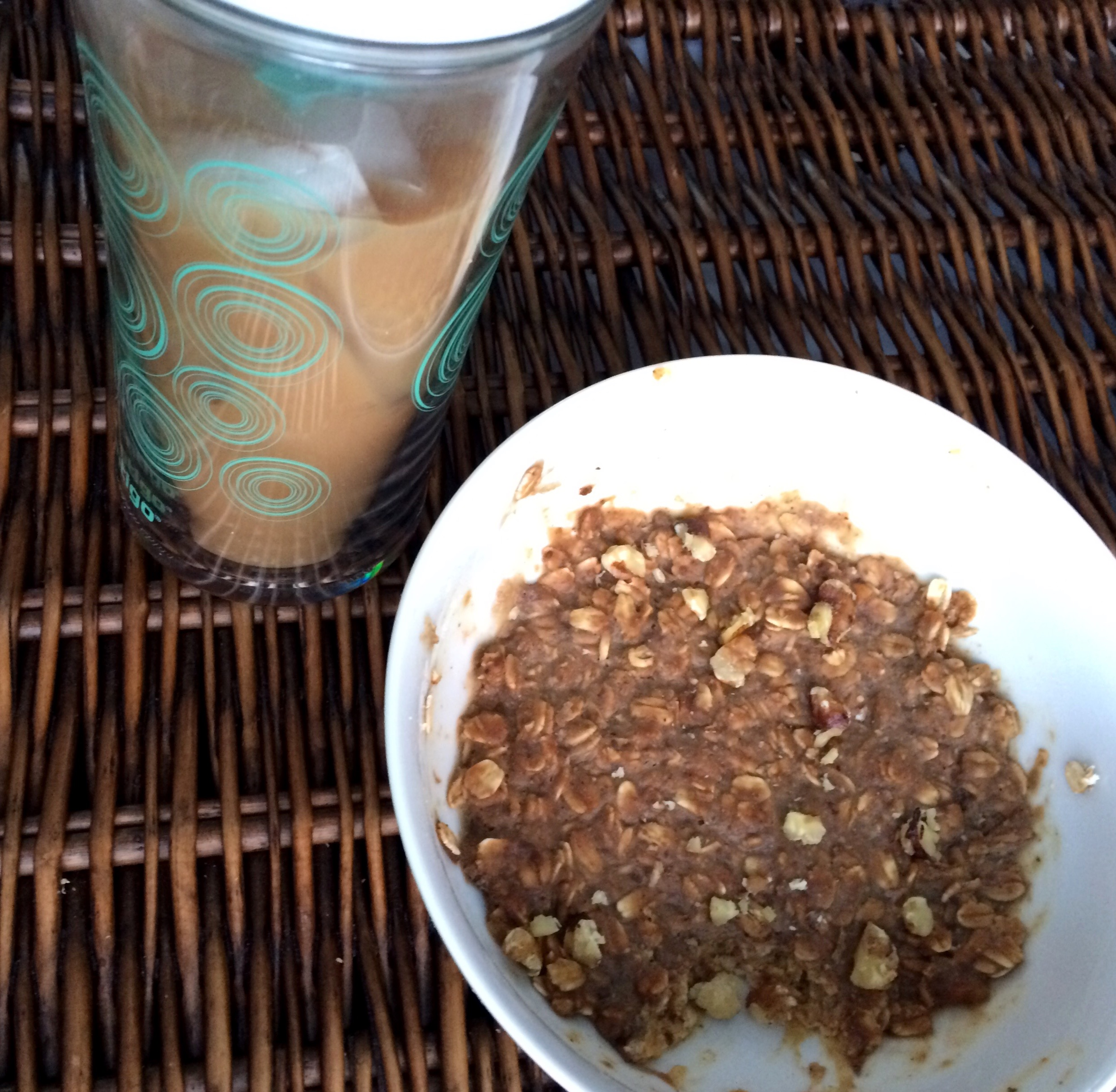 Breakfast cookie dough and cold brew coffee