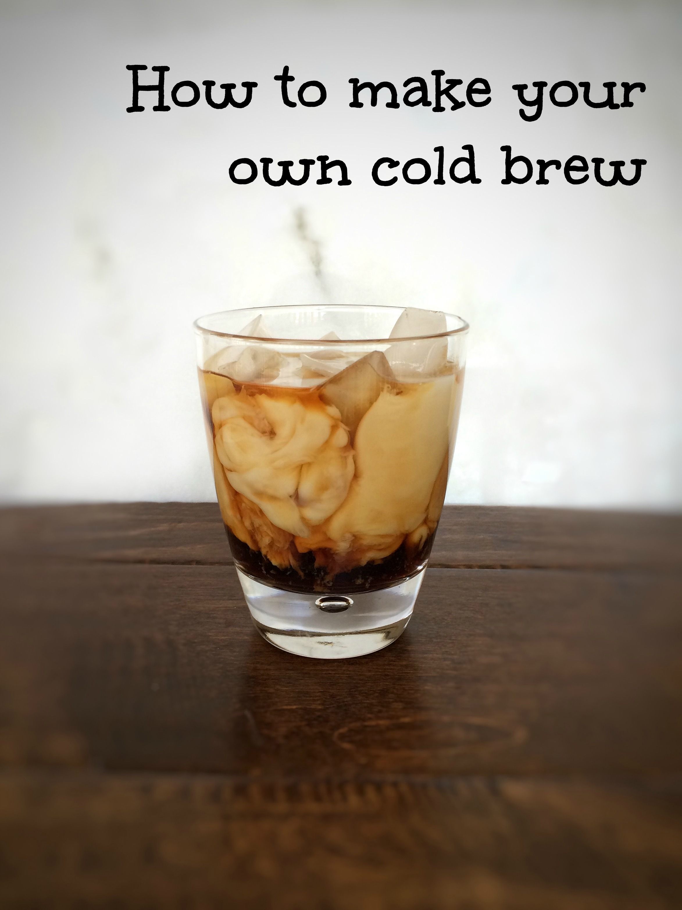 How to make your own coldbrew concentrate