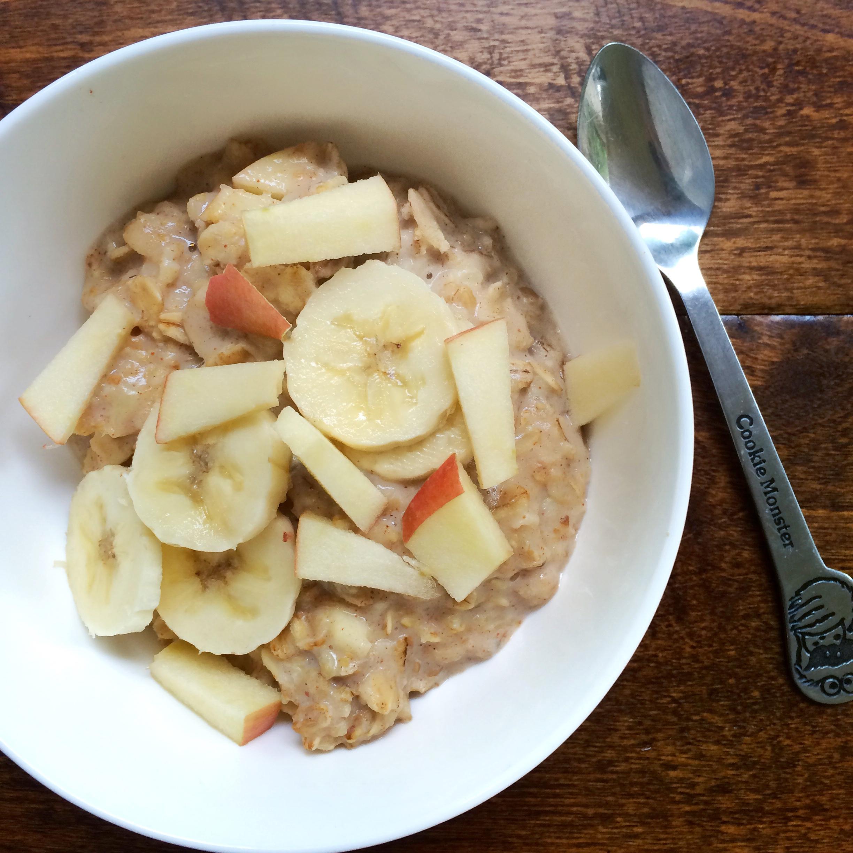 Whipped banana oatmeal