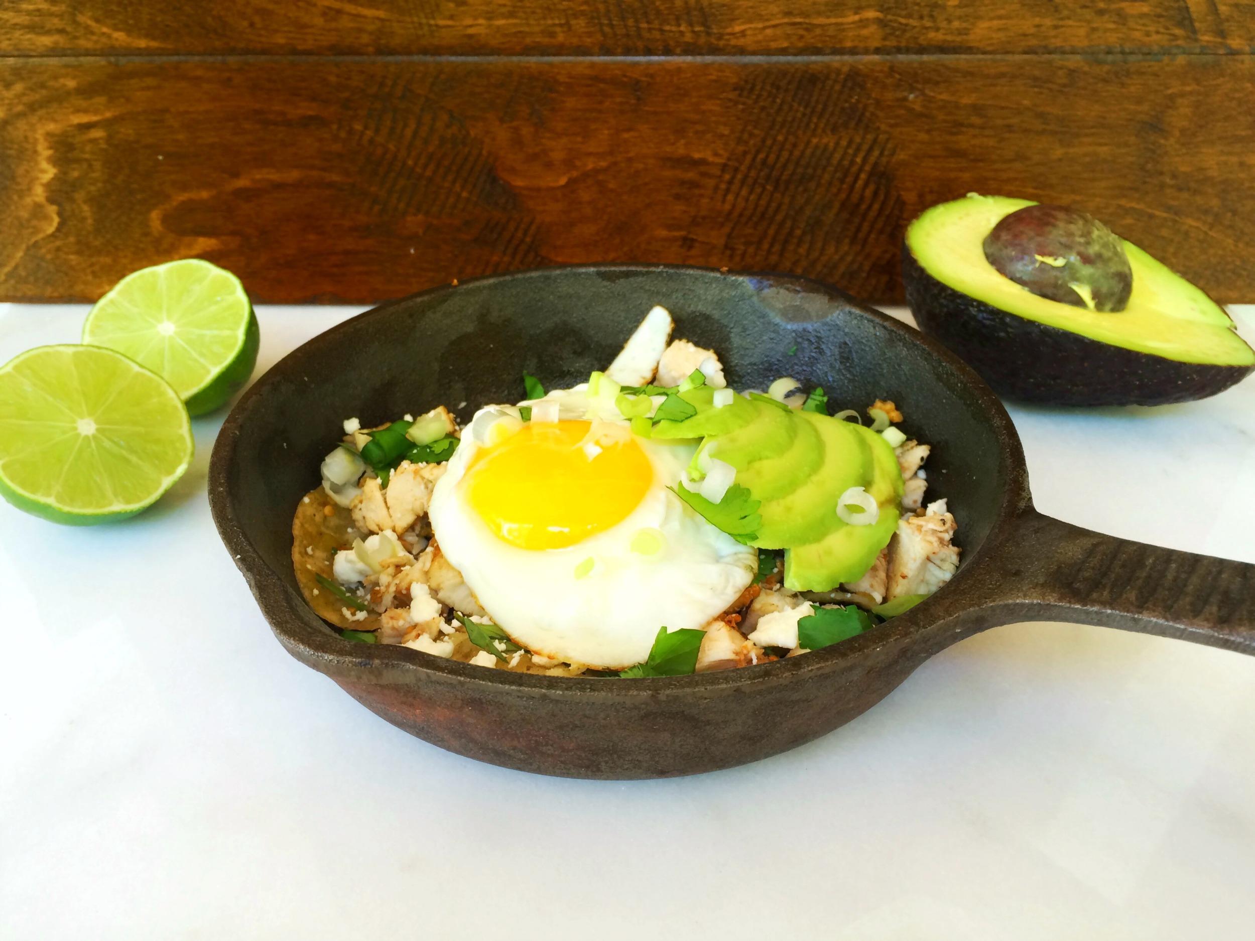 Easy breakfast chilaquiles