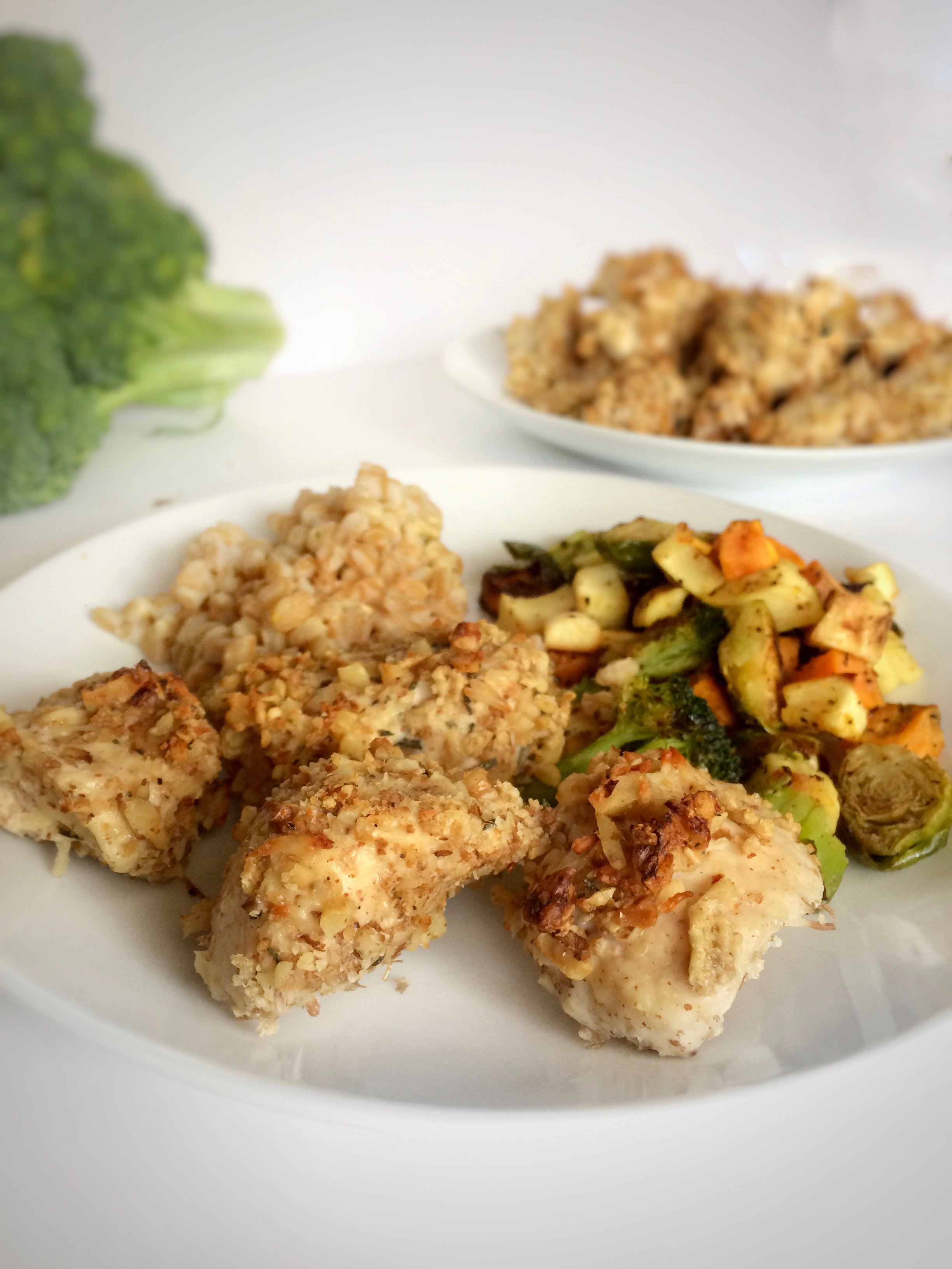 Gluten Free Oven Fried Rosemary Chicken Nuggets