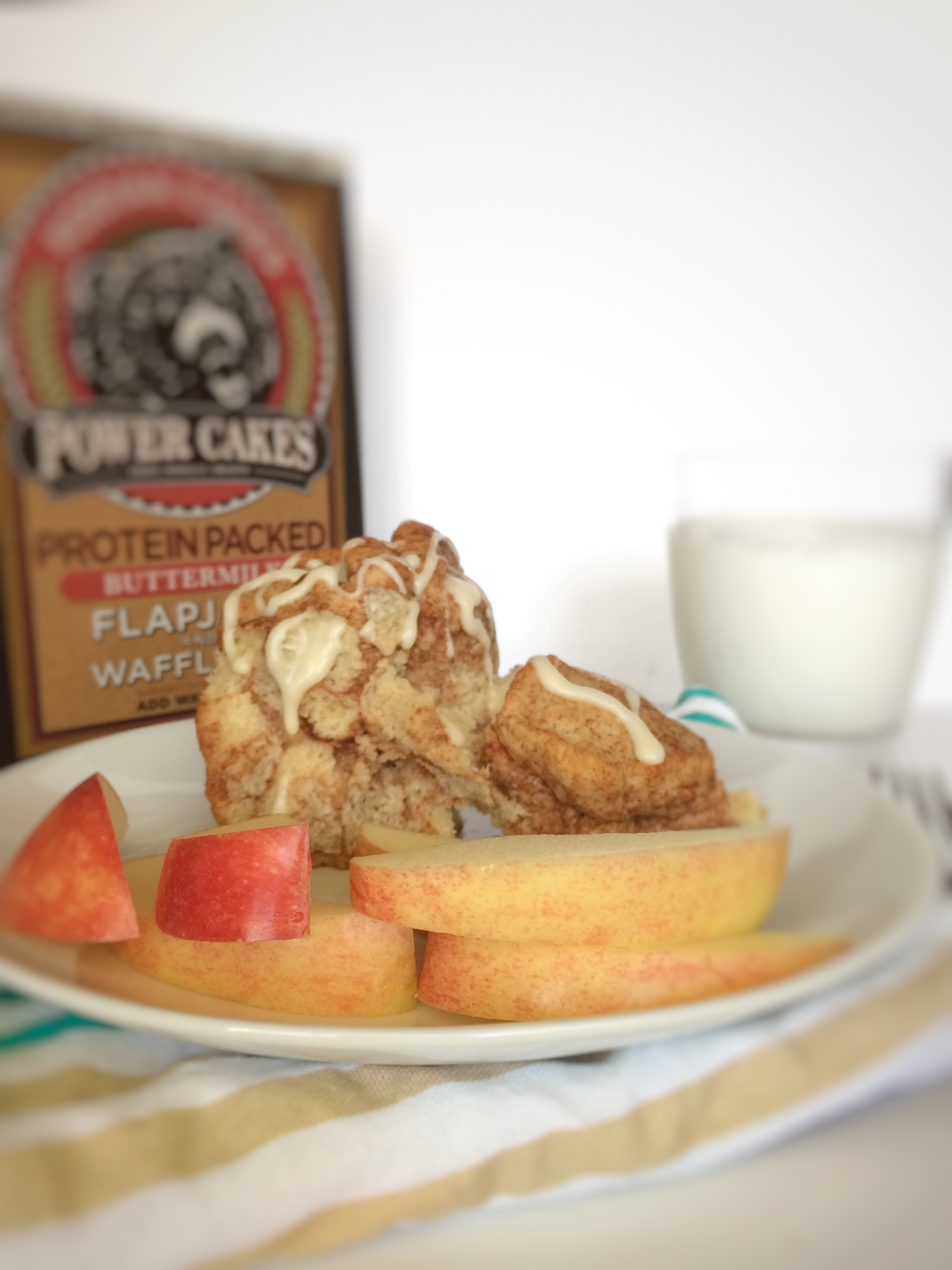 Protein packed monkey bread using kodiak cakes