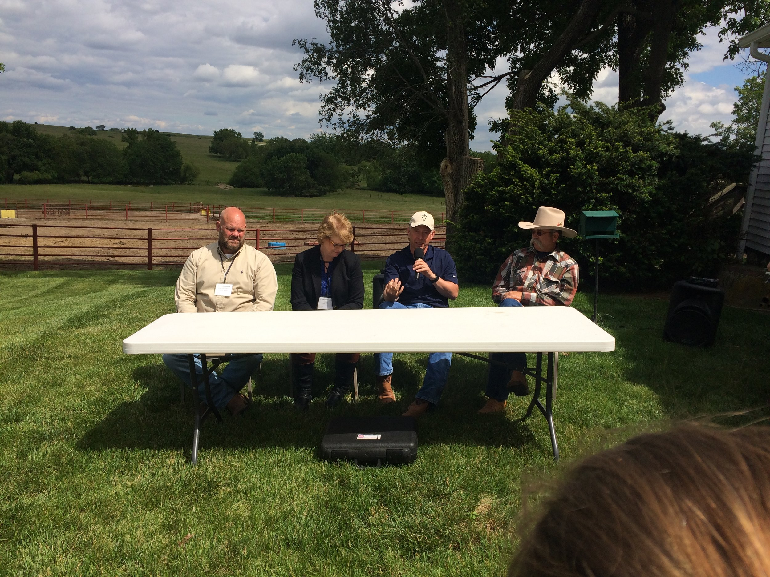 The beef panel we had the privilege of asking questions to
