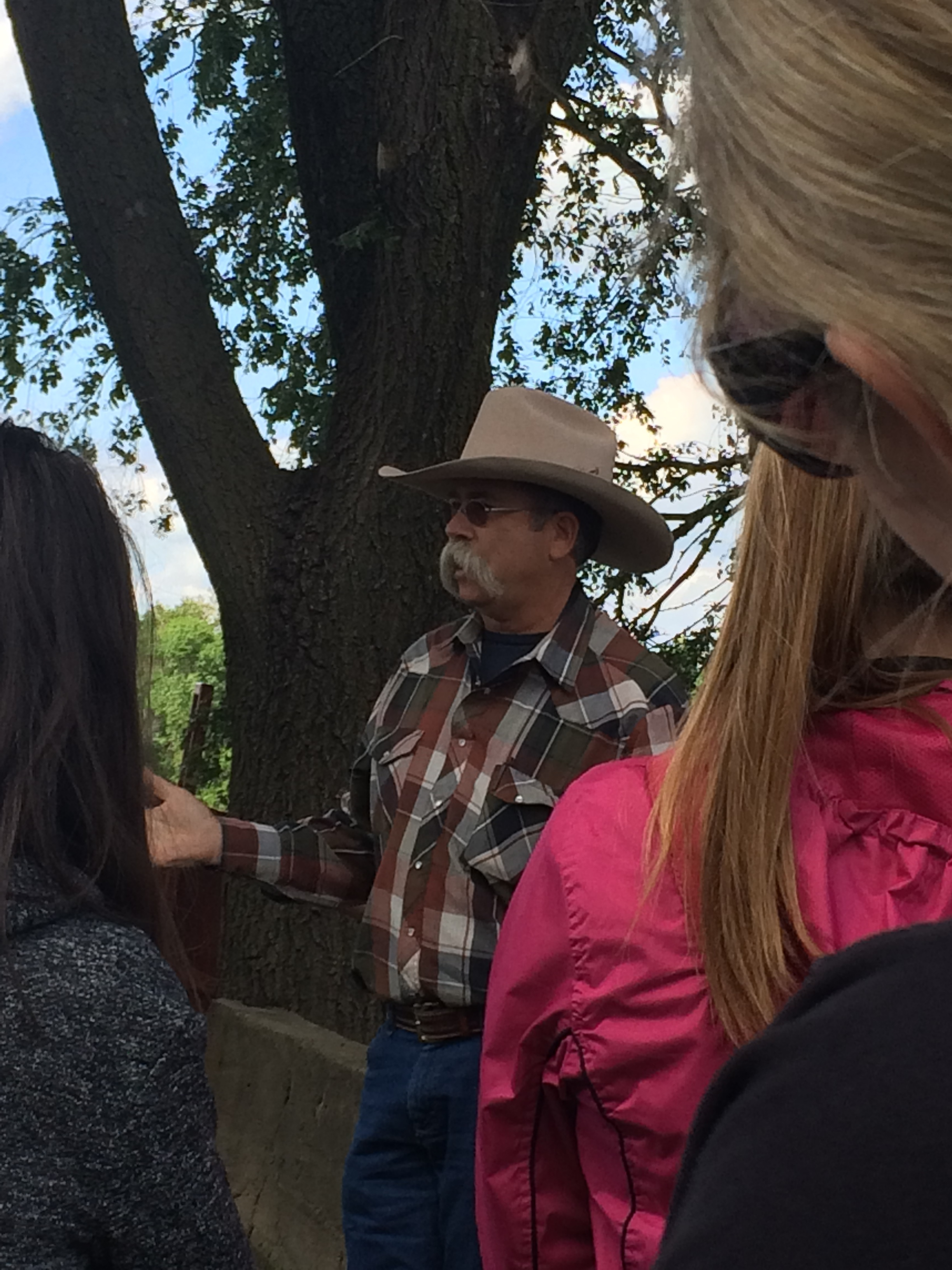 This cattle rancher was SO sweet and funny; and his mustache is LEGIIIIT