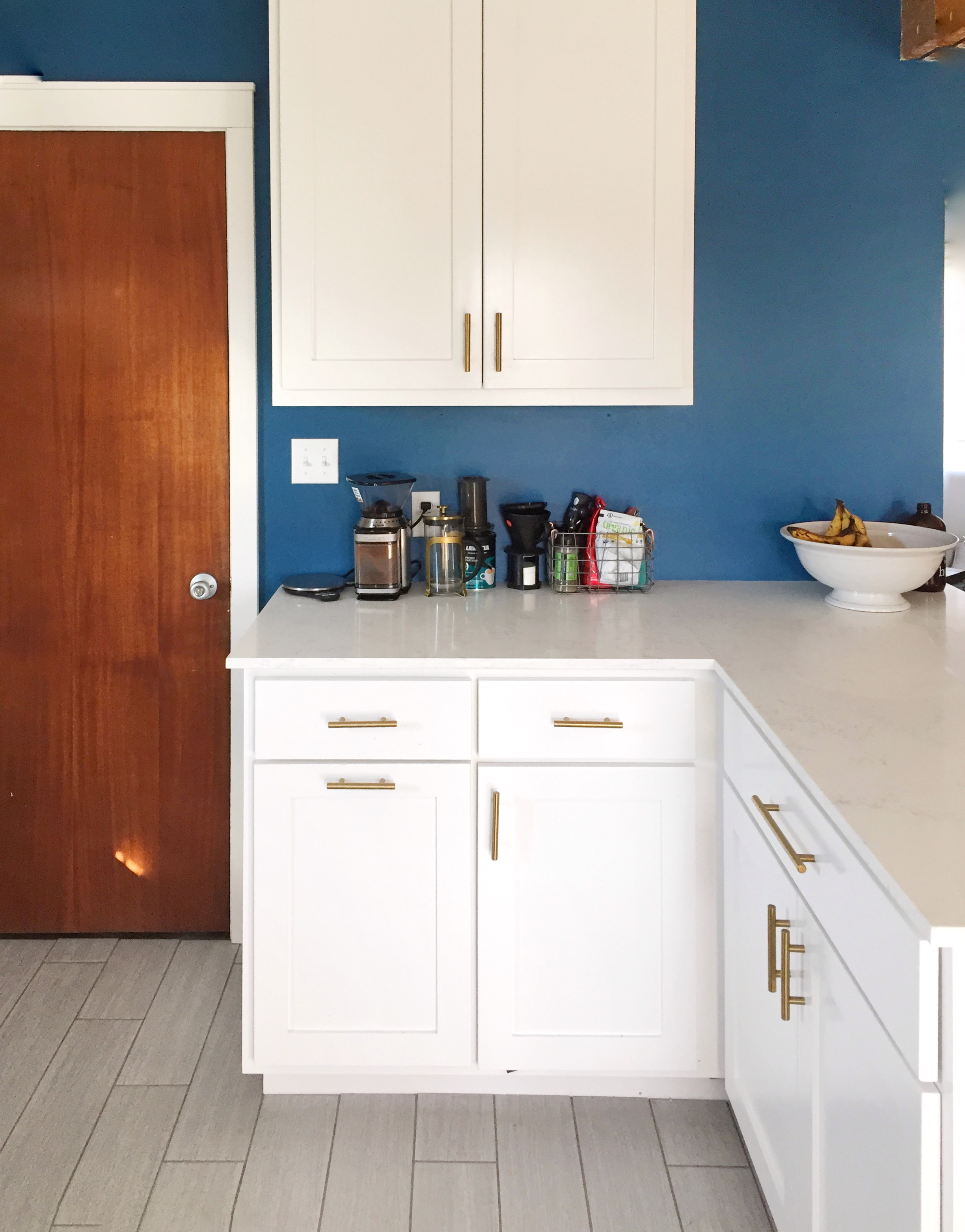 This area of cabinets is completely new…before, it was just a corner of walls