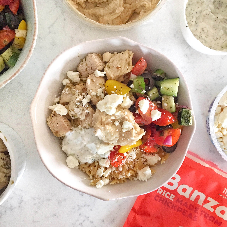 "Mediterranean Banza ""rice"" bowl"