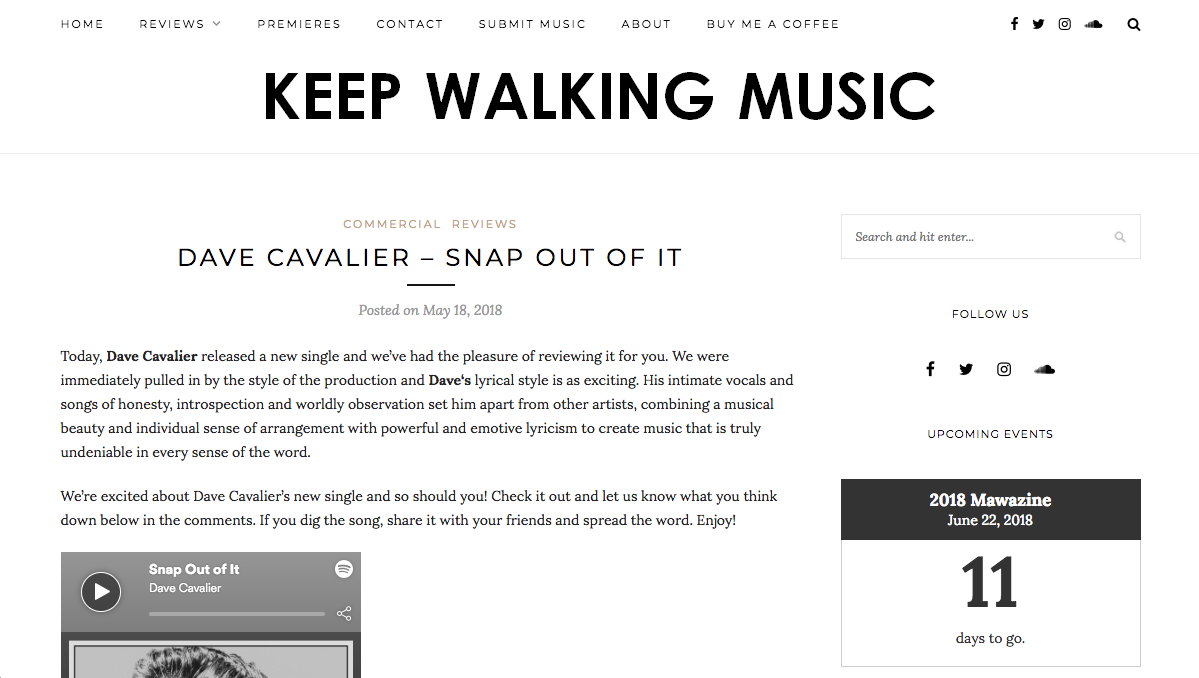 Keep Walking Music