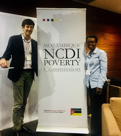 The lancet  ncdi poverty commission co-chairs drs. gene bukhman and ana mocumbi at the report launch in maputo.  dr. mocumbi also chairs the mozambique ncdi poverty commission.