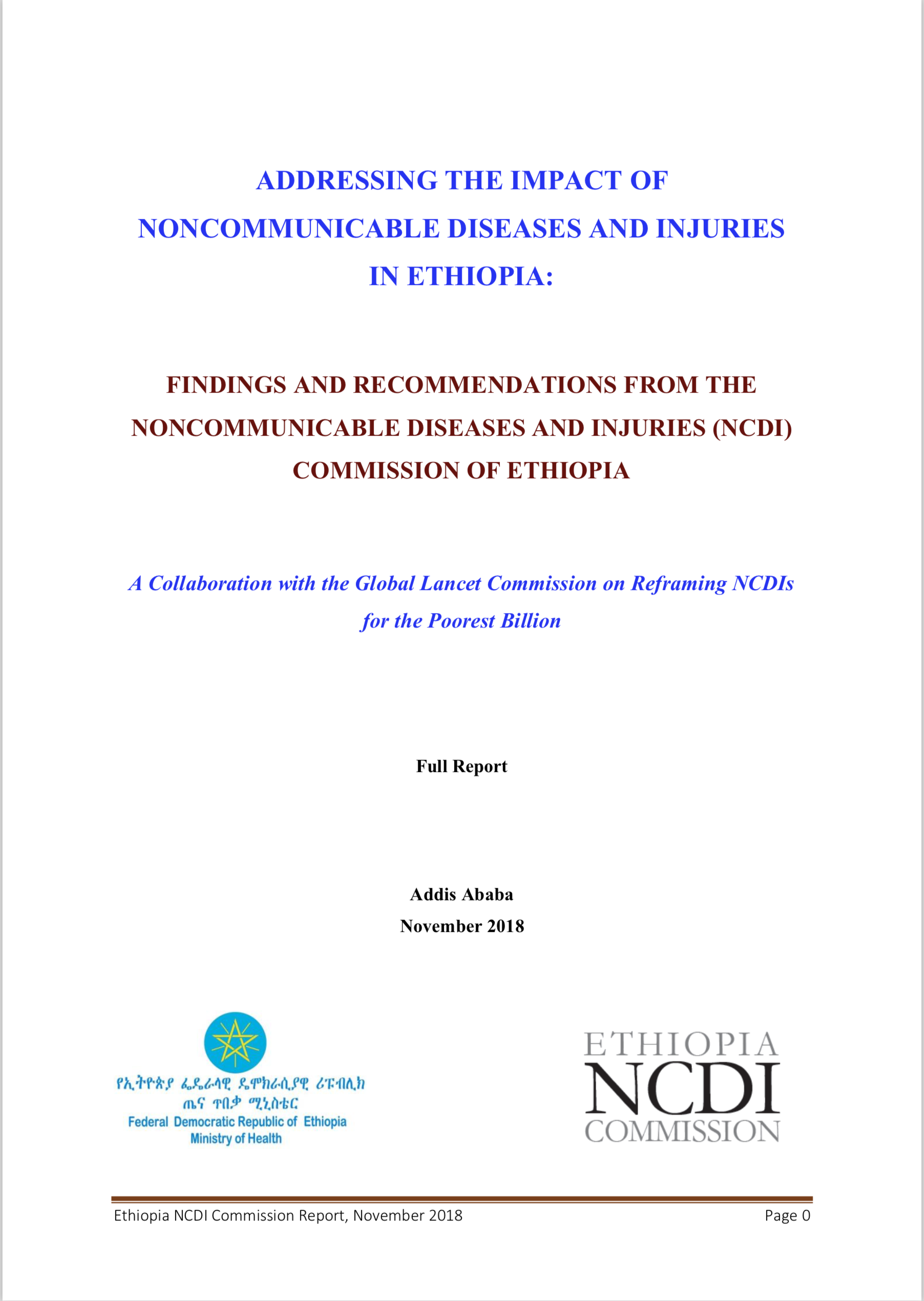 Ethiopia NCDI Commission Report