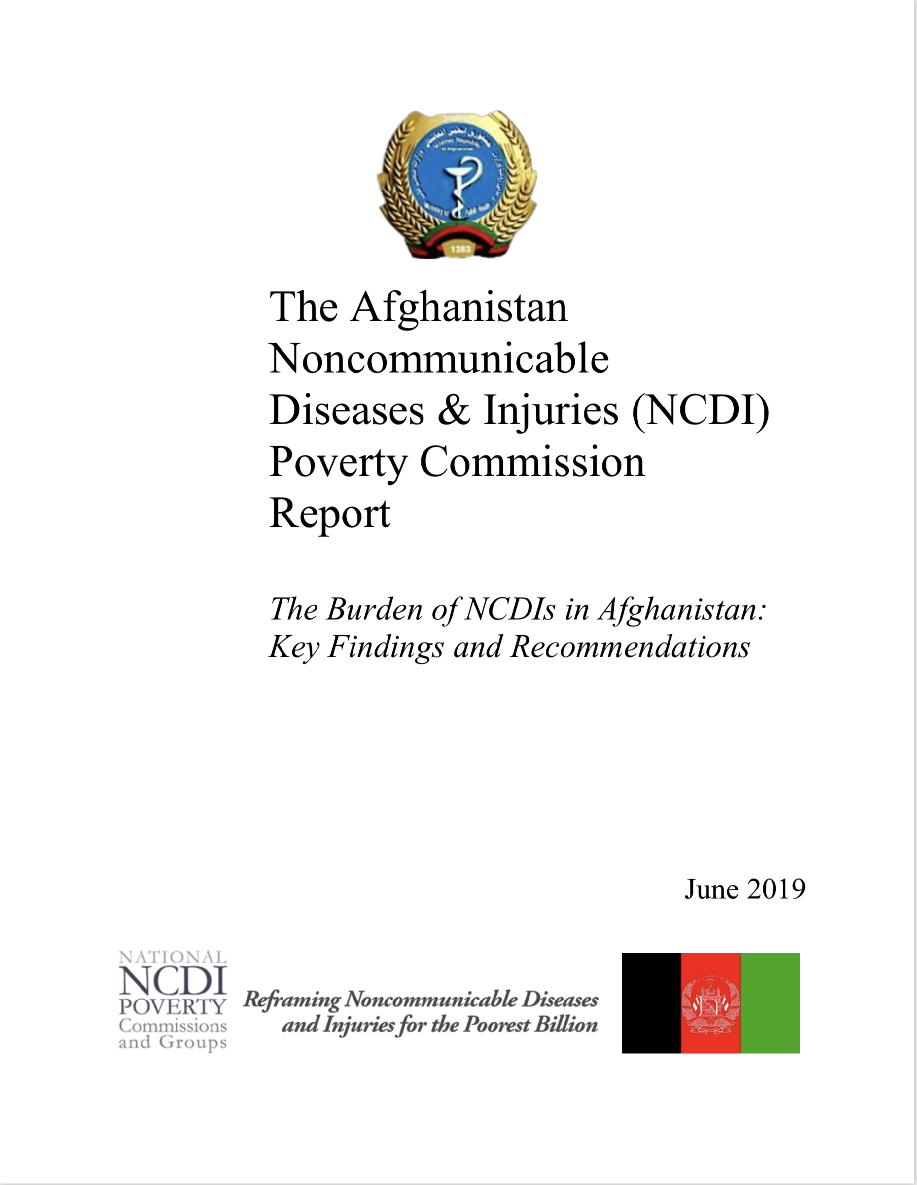 Afghanistan NCDI Poverty Commission Report