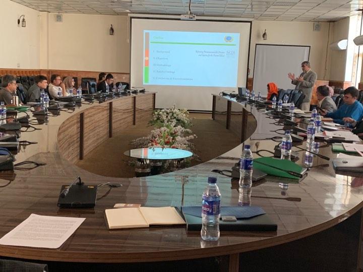 Commission coordinator dr. said habib Arwal presents the report