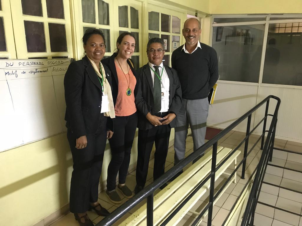 This picture was from a visit in May 2019 - prior to the start of the COmmission includes Emily Wroe, Dr Vincent, Dr Ali, (Formerly of PILOT)
