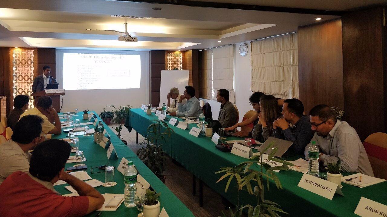 Commissioners meeting in Kathmandu on 6 June 2019.