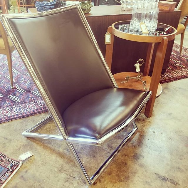 Just in! Ward Bennett Scissor Chair. $450  #wardbennett #scissorchair