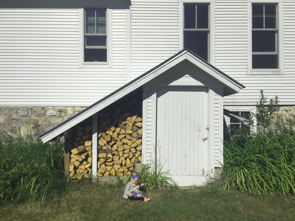 My niece at our Airbnb in Northern MI