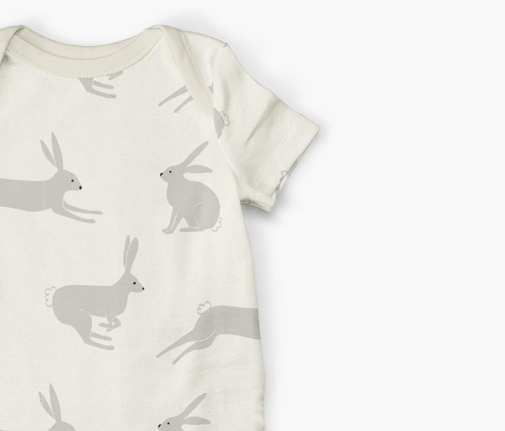 bunny pattern onesie design