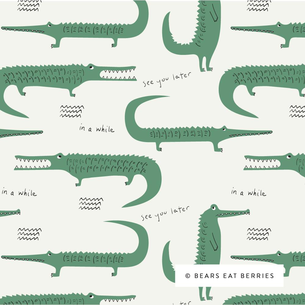 alligators and crocodiles pattern