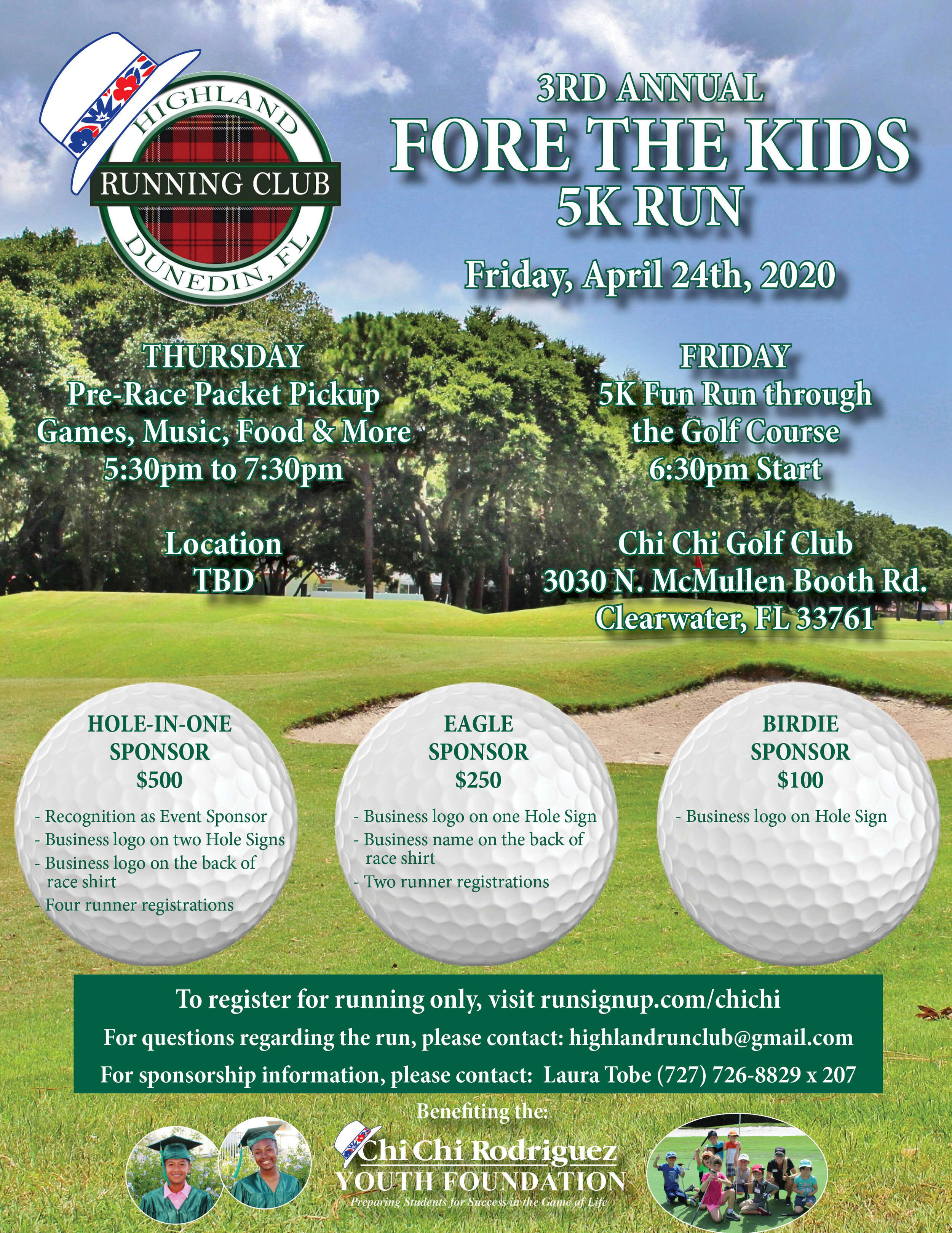 3rd Annual Fore The Kids 5k Chi Chi Rodriguez Youth Foundation