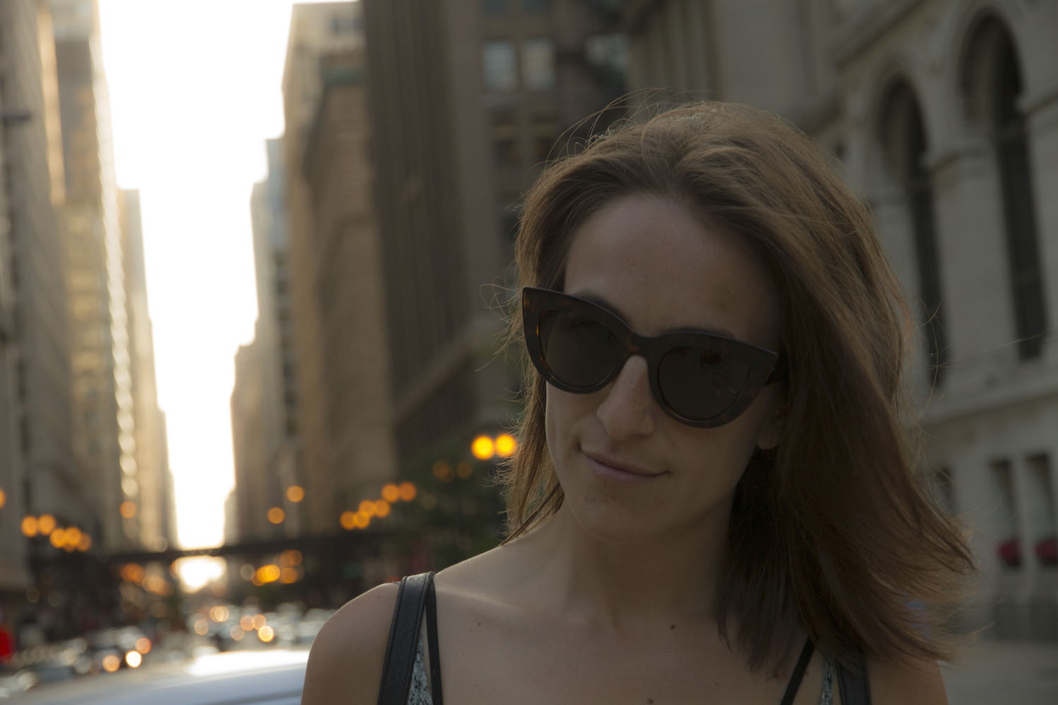 A little photo shoot at sunset in downtown Chicago.