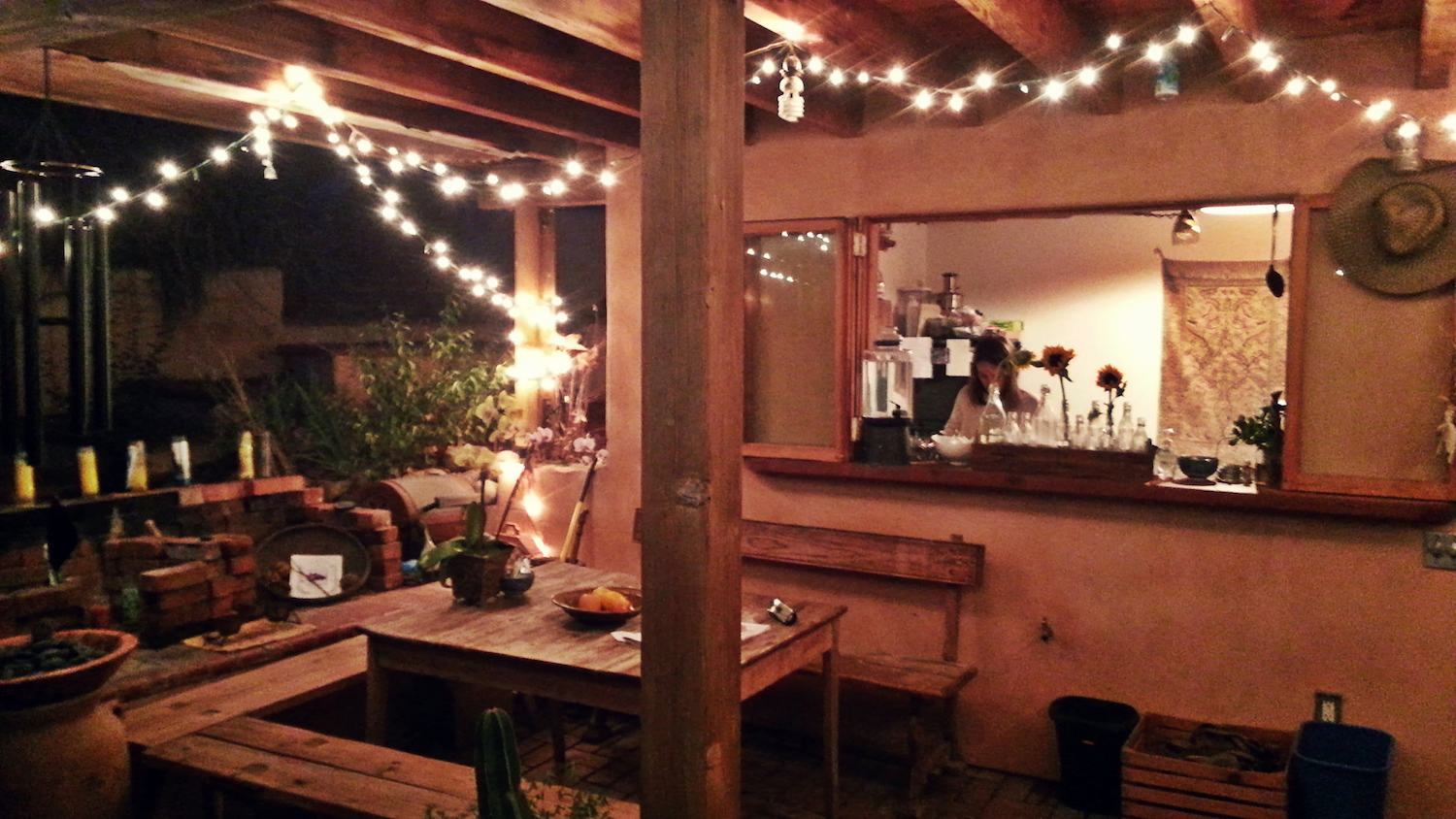 We stayed in the most beautiful  Airbnb  in Topanga, isolated at the end of a dirt road, and at the base of a gorgeous canyon.Hosted by Matthew, such an inspiring person. It was a very memorable and romantic few nights. This was our outdoor kitchen.