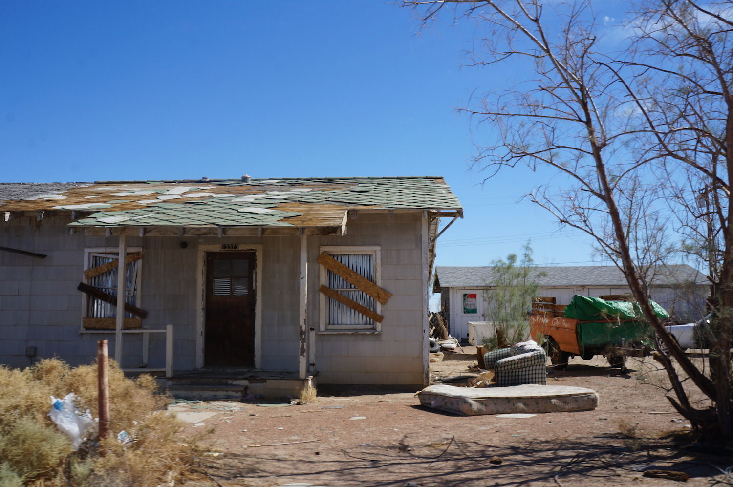 Most of the homes we saw looked like this, however they're not all abandoned. Several are lived in which seemed surreal.