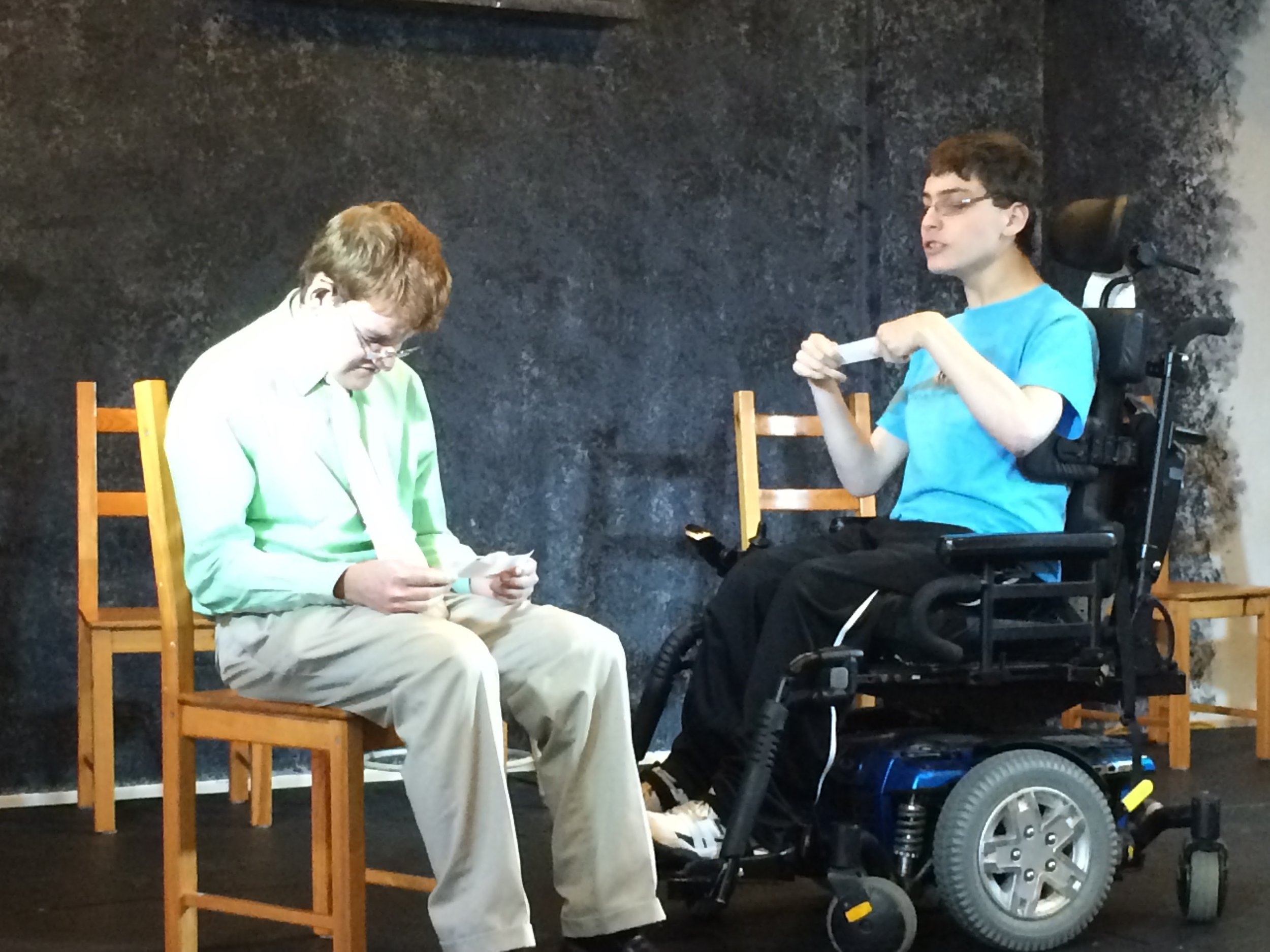An acting class for people with disabilities.