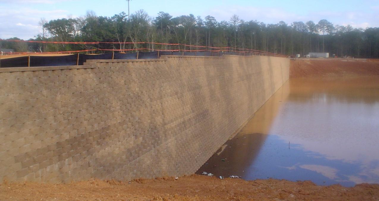 MSE Retaining Wall Load Transfer Platform