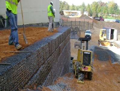 MSE Pressure Relief Retaining Wall