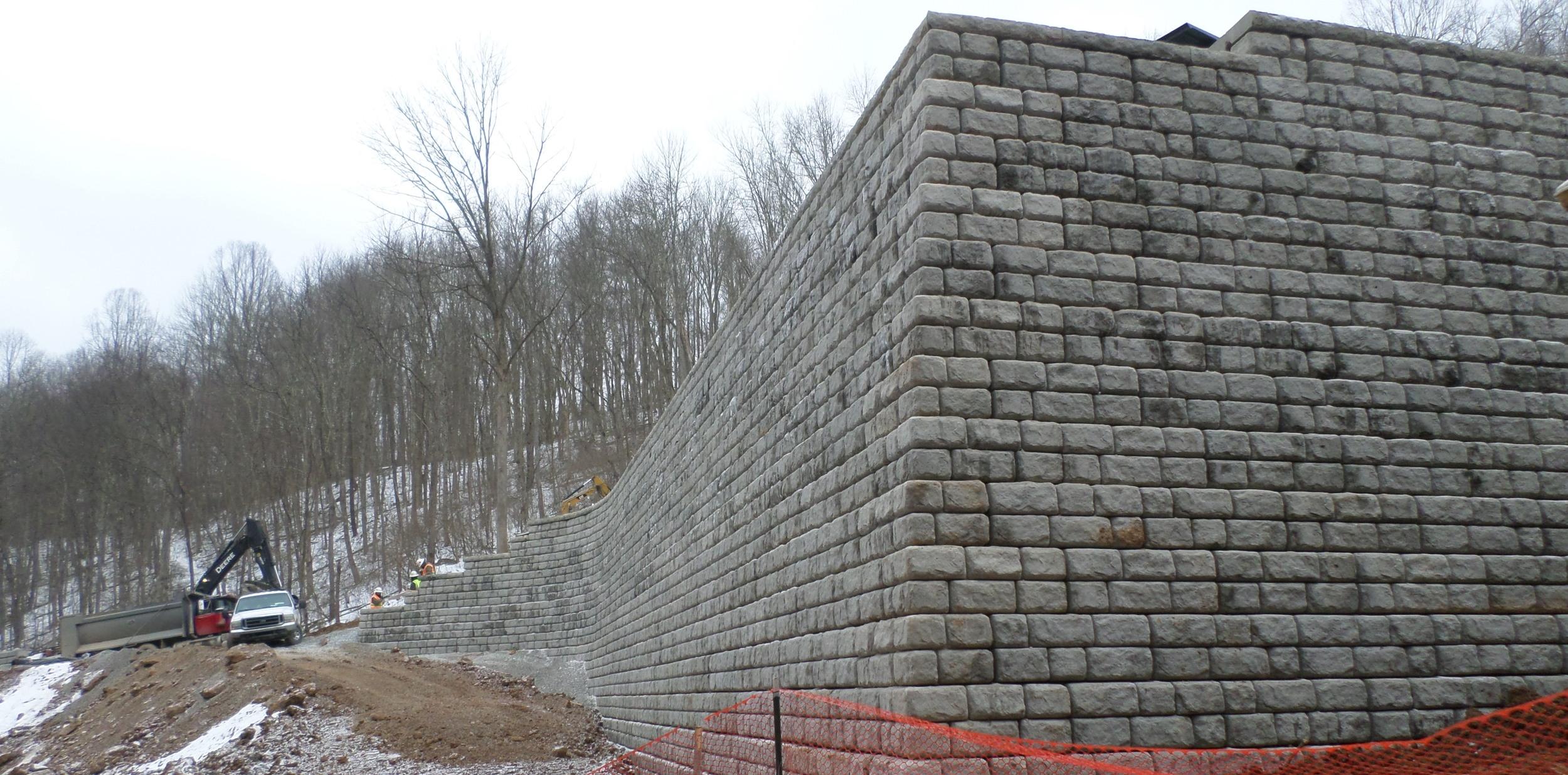 Large Block Retaining Wall