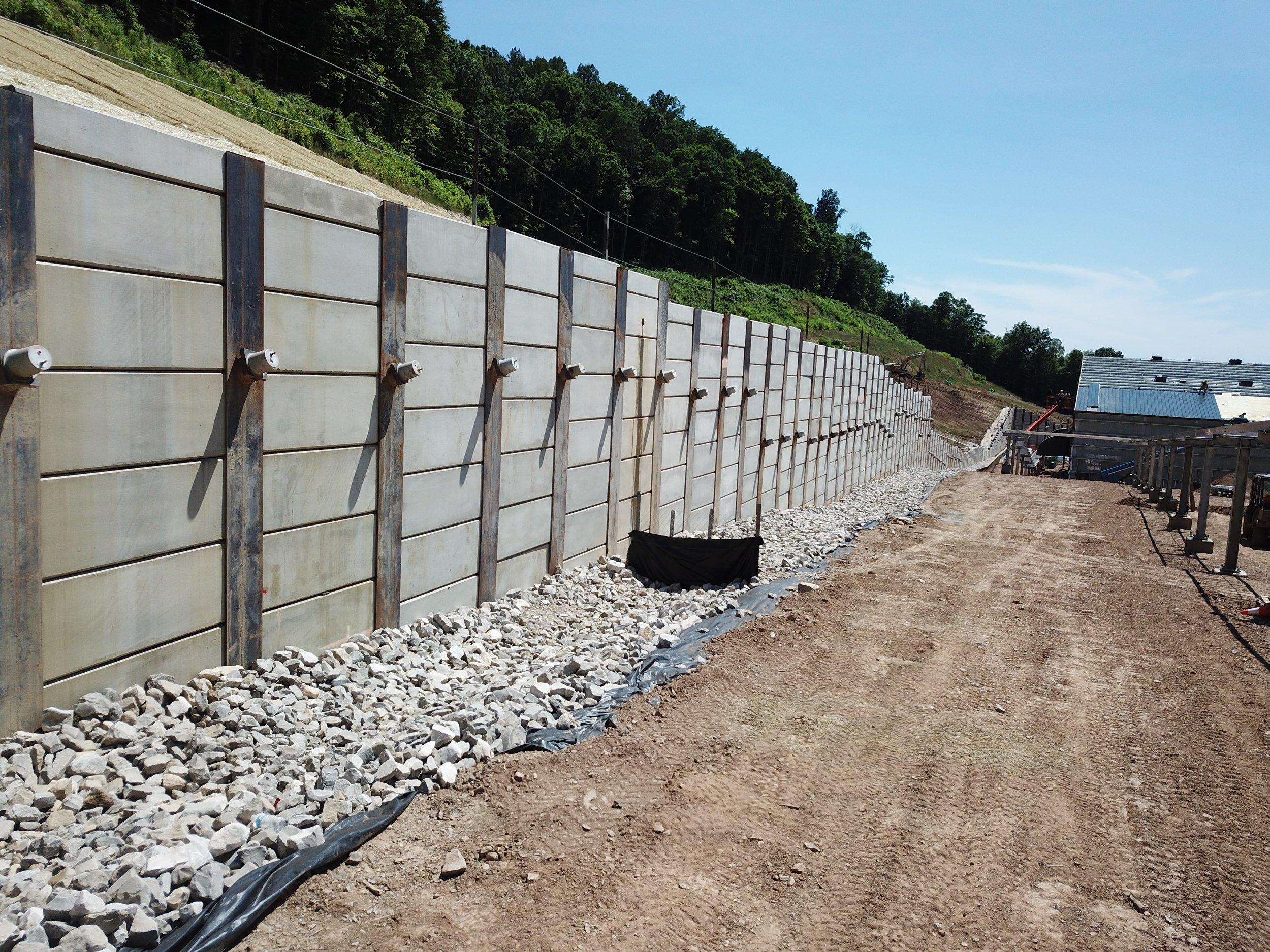 Tieback Anchored Retaining Wall