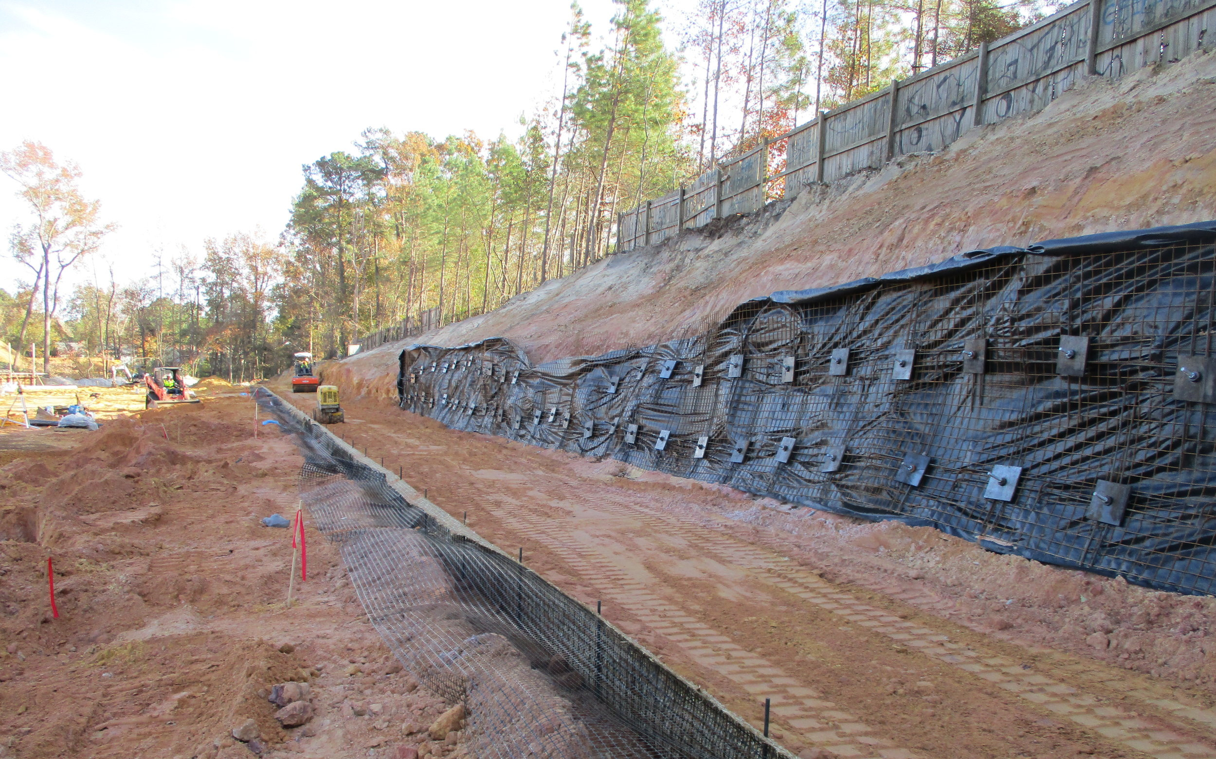 Shored MSE Retaining Wall