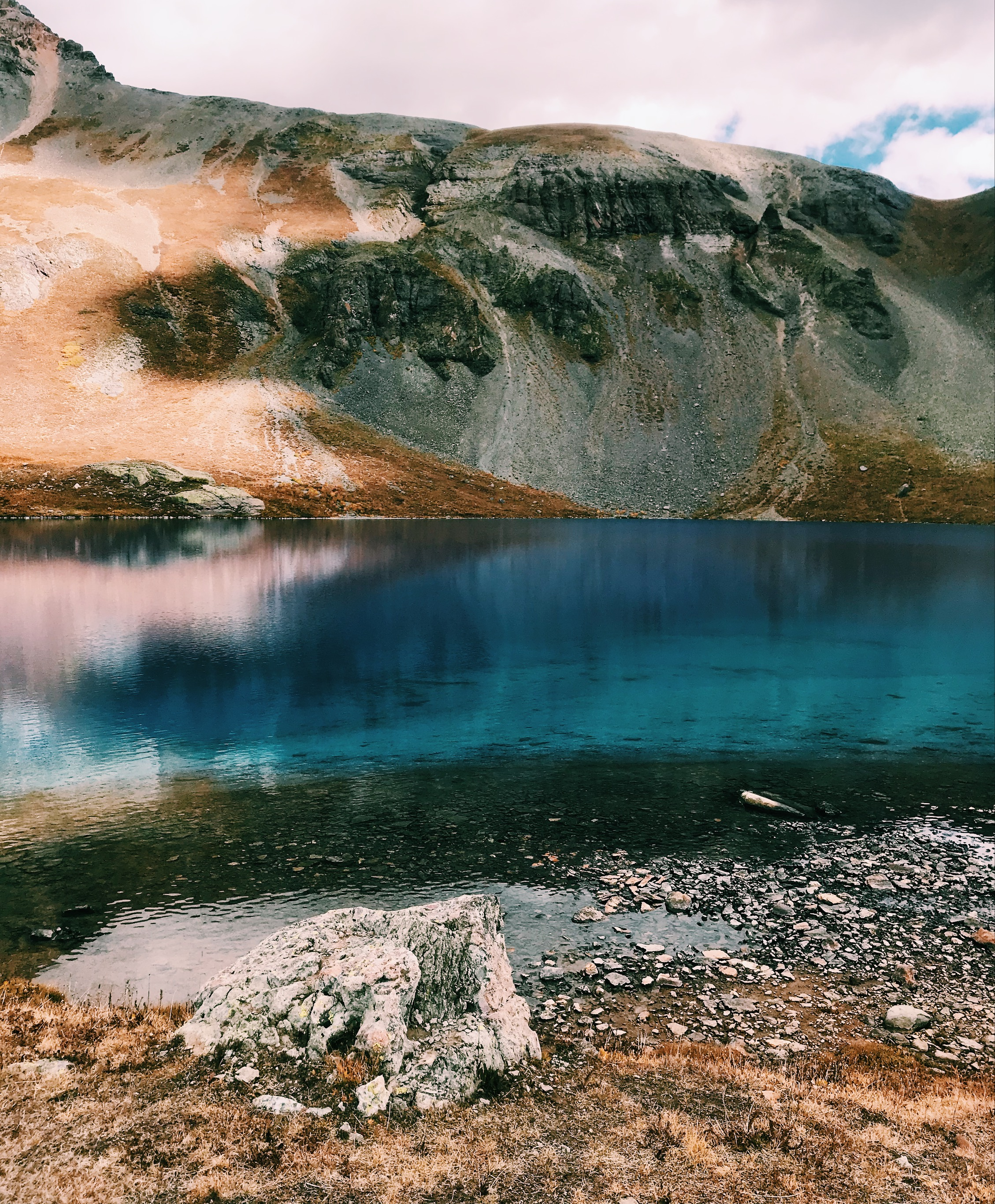Silverton, Colorado in the San Juan National Forest. Ice Lake reflections.