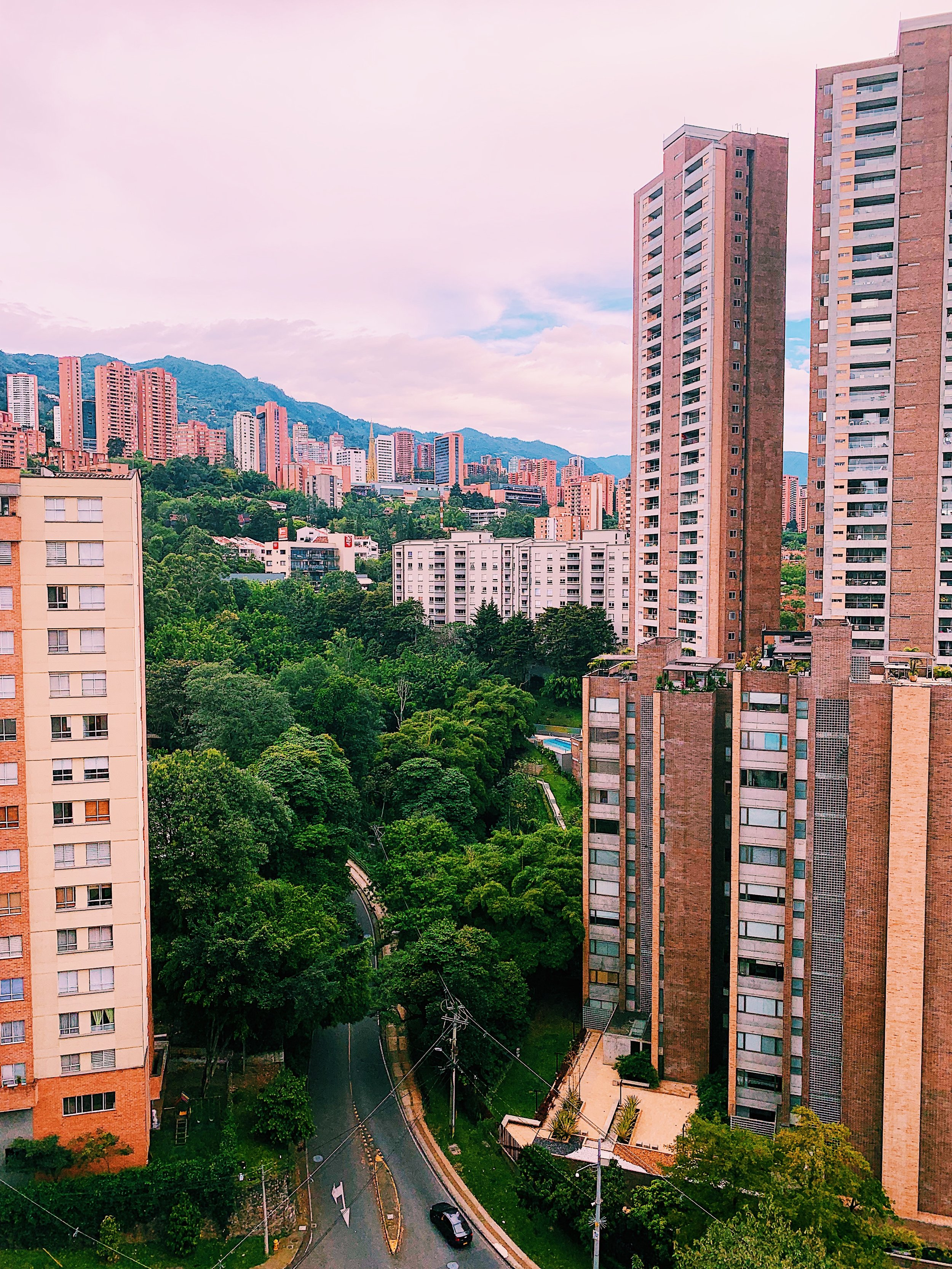 View from my apartment up to the hillside of  Medellín
