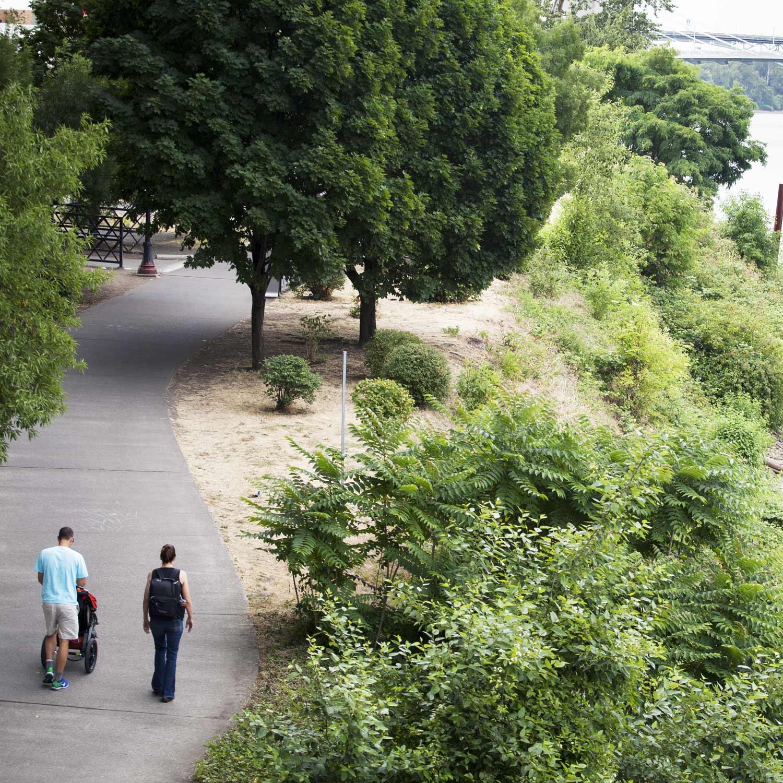 Short ride to Eastbank Esplanade trails