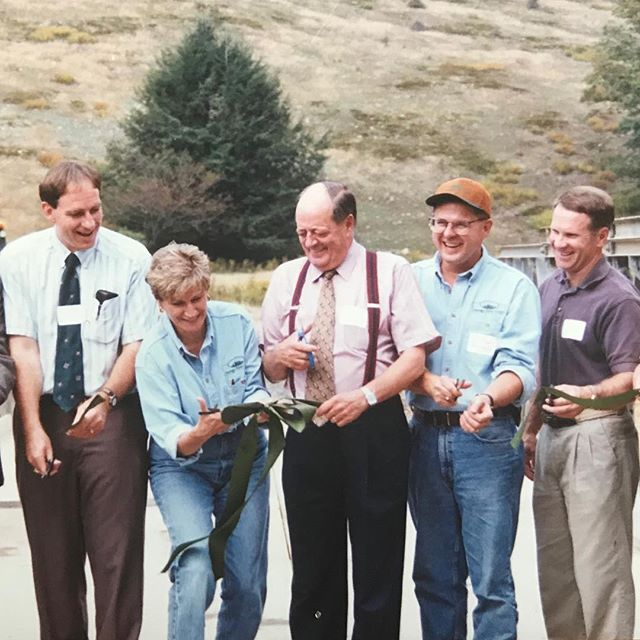 A walk down memory lane... We had a dedication ceremony for our little bridge over the Savage River twenty years ago today, September 17, 1998. I think we should re-stage this photo and see who has aged best — any of us, or the bridge itself! ___ #ribboncutting #savageriverstateforest #marylanddnr #savageriver #savageriverlodge #srl #srl20 #memorylane #mondaymemories #1998 #garrettcounty #ruralbusiness #mountainmaryland #visitmd