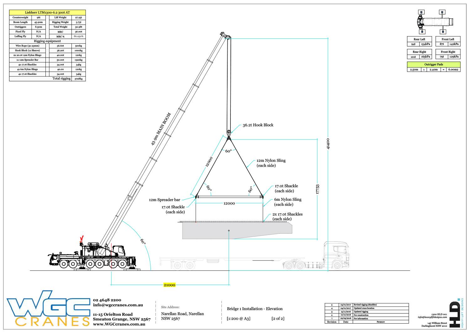 Narellan Bridge Heavy Lifts