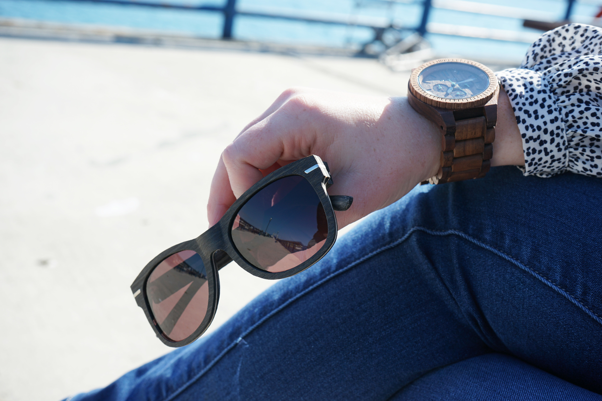 Wooden Watch and Wooden Sunglasses by WeWOOD for Father's Day gift ideas - You buy a WeWOOD. We plant a tree. - Maggie a la Mode