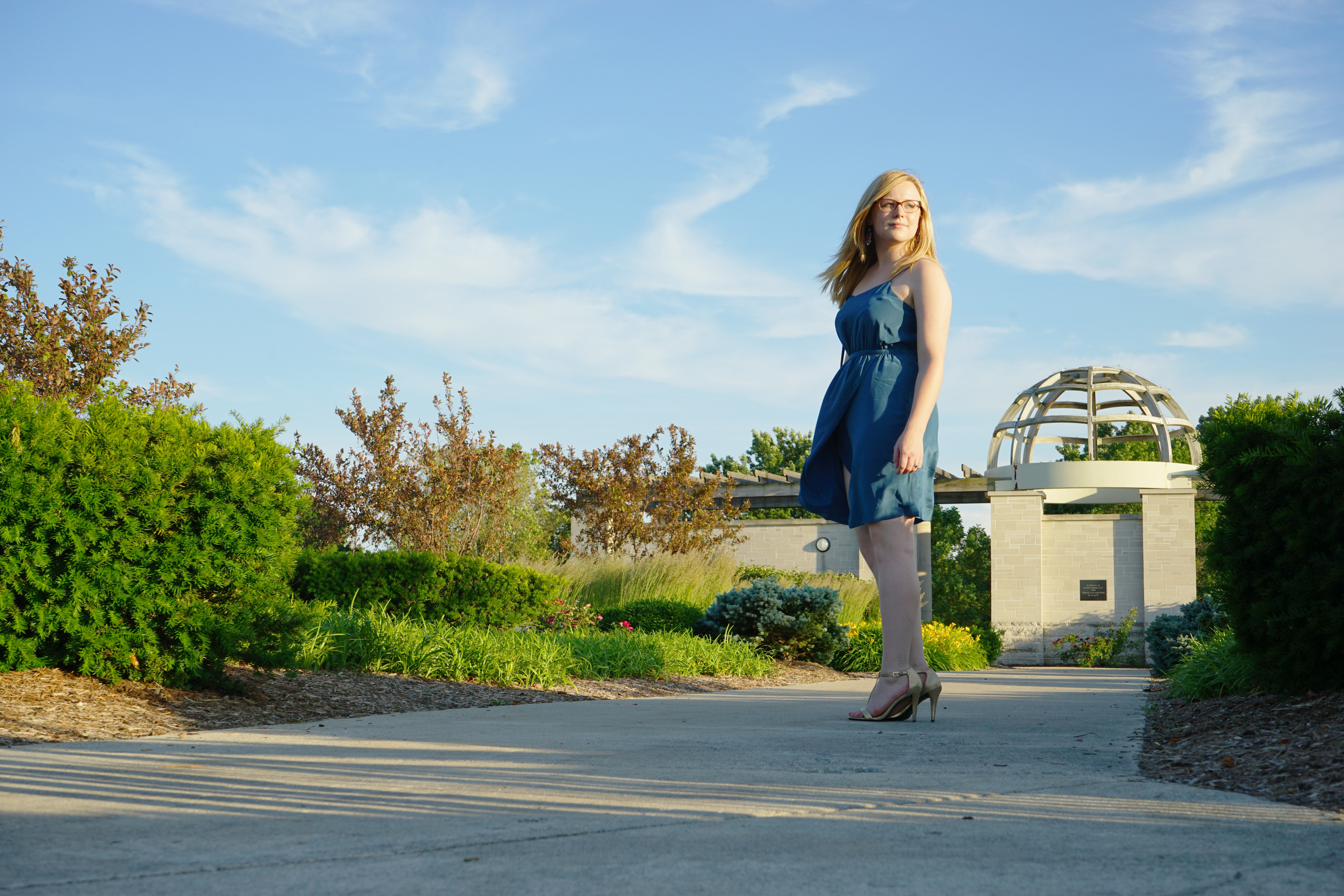 Maggie a la Mode - Teal madewell dress 1.JPG