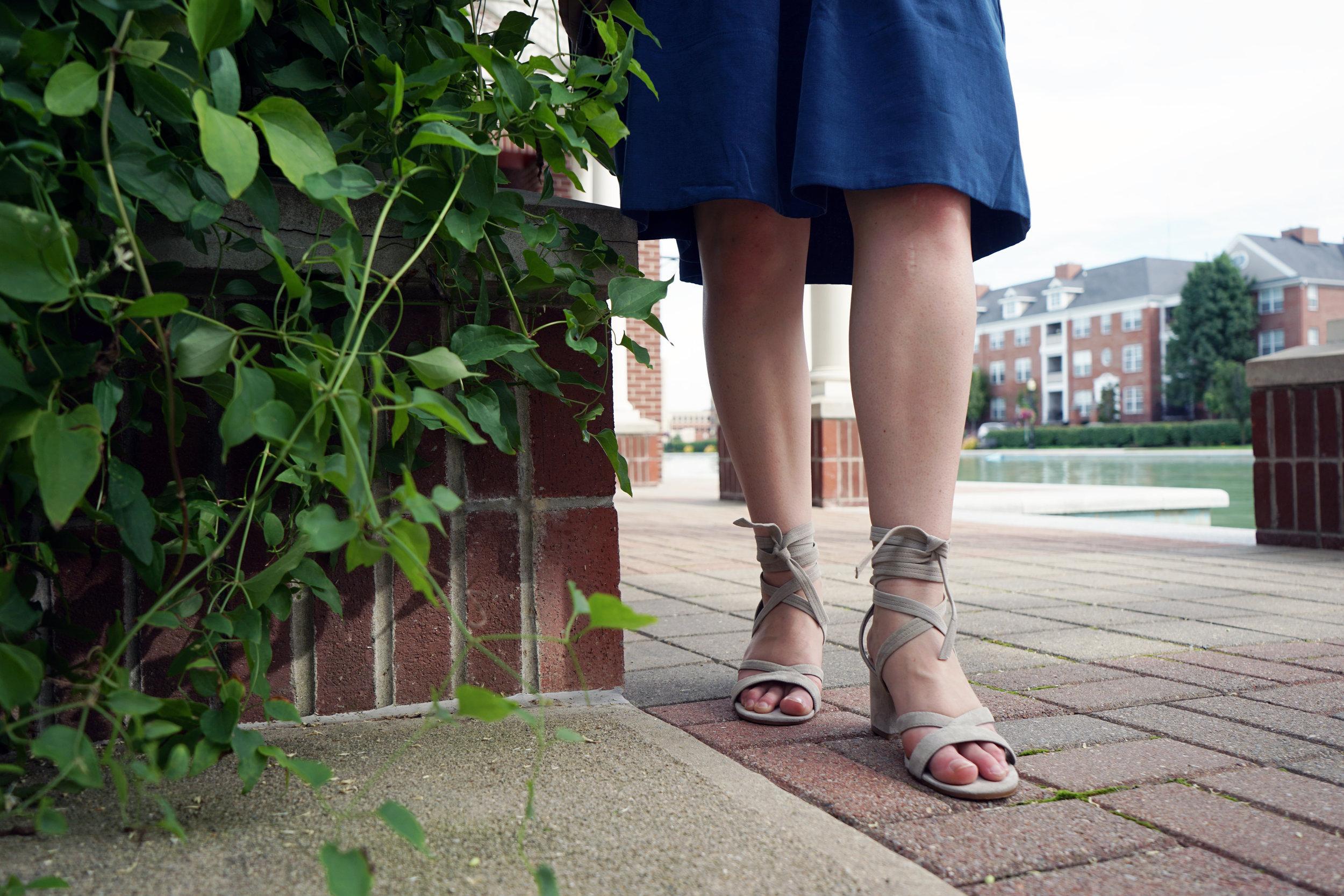 Ivanka Trump Ellyn lace-up sandals - Maggie a la Mode