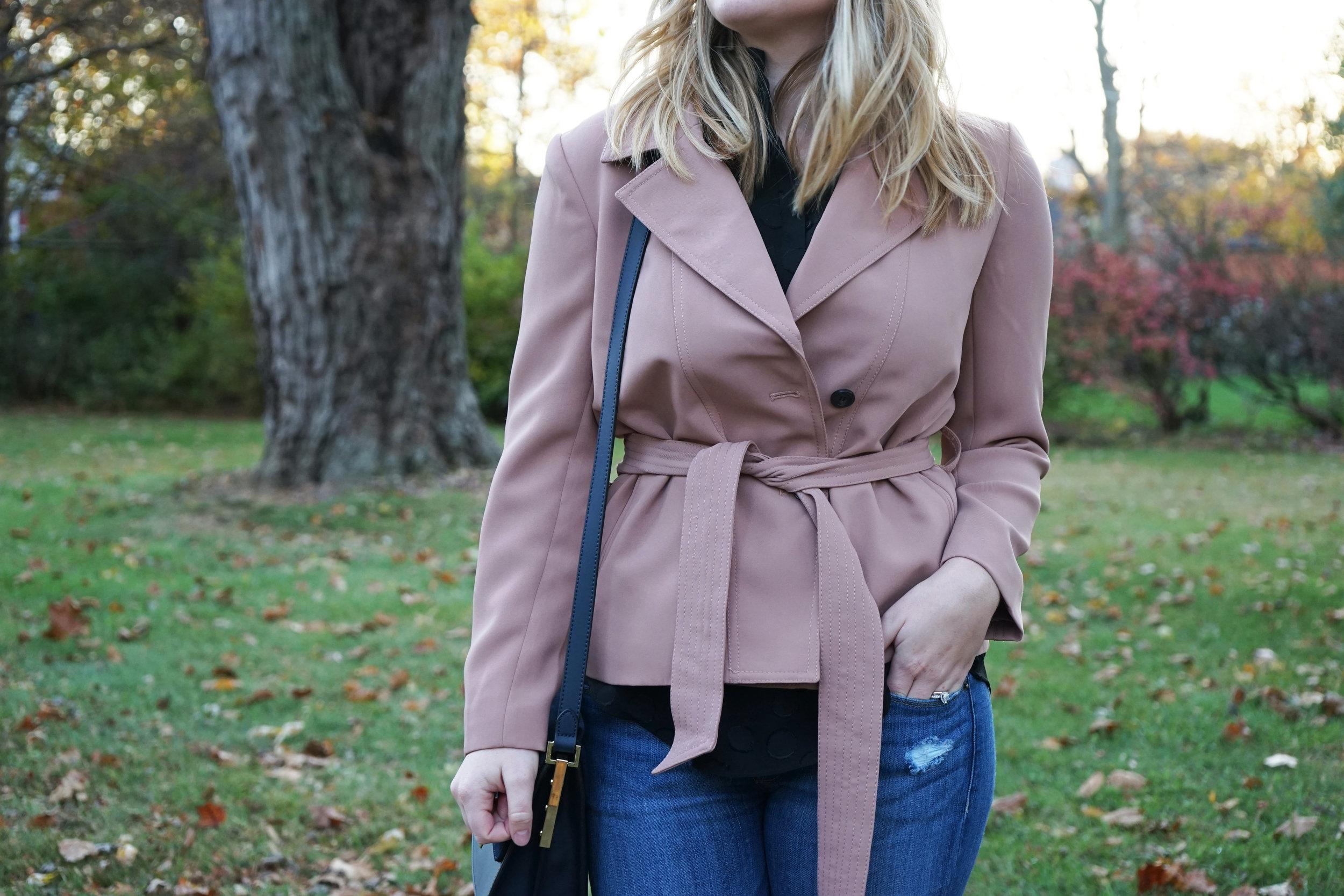 Maggie a la Mode - Ann Taylor Mini Trench Jacket 3.JPG