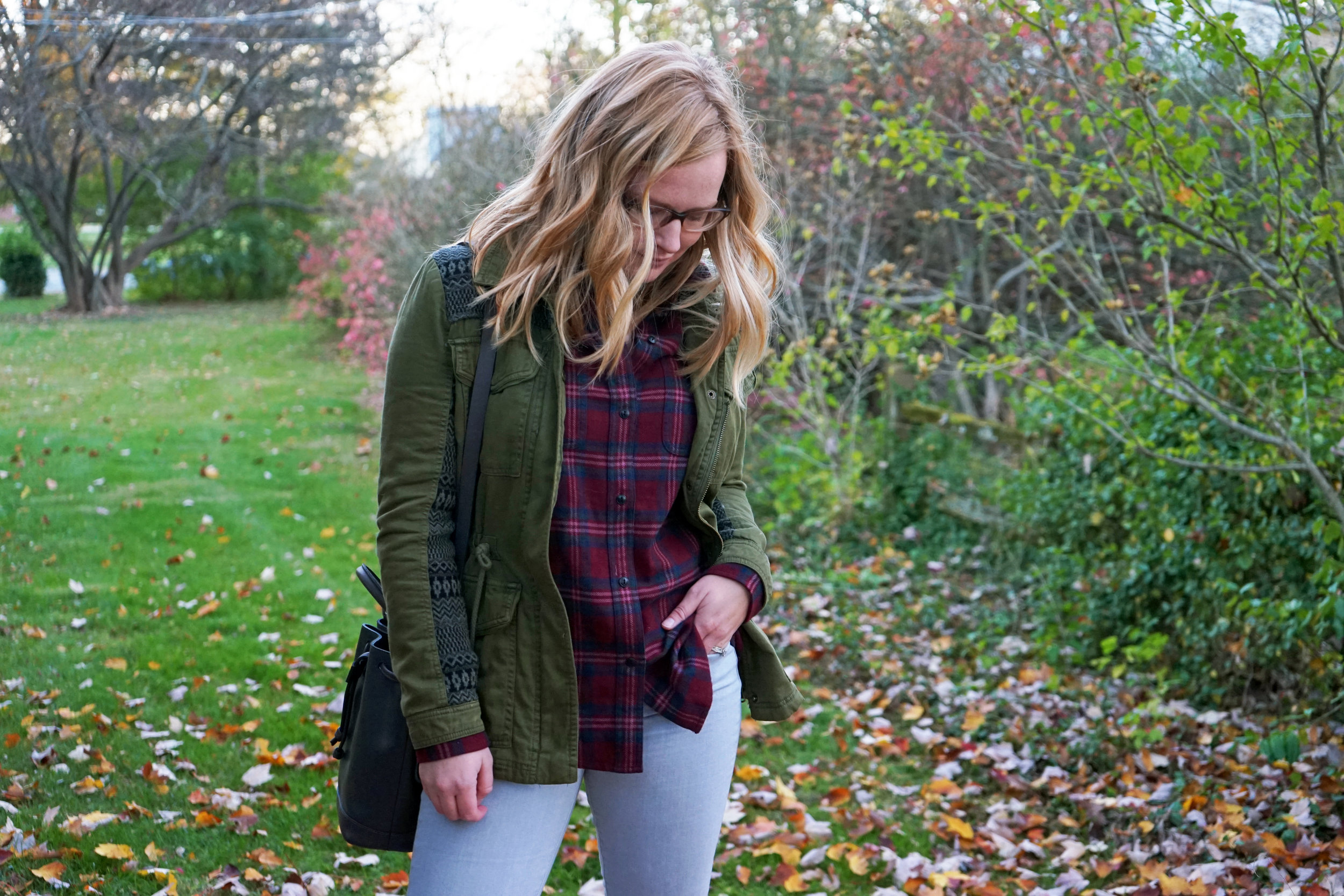 Maggie a la Mode - The Perfect Flannel Madewell 6.JPG