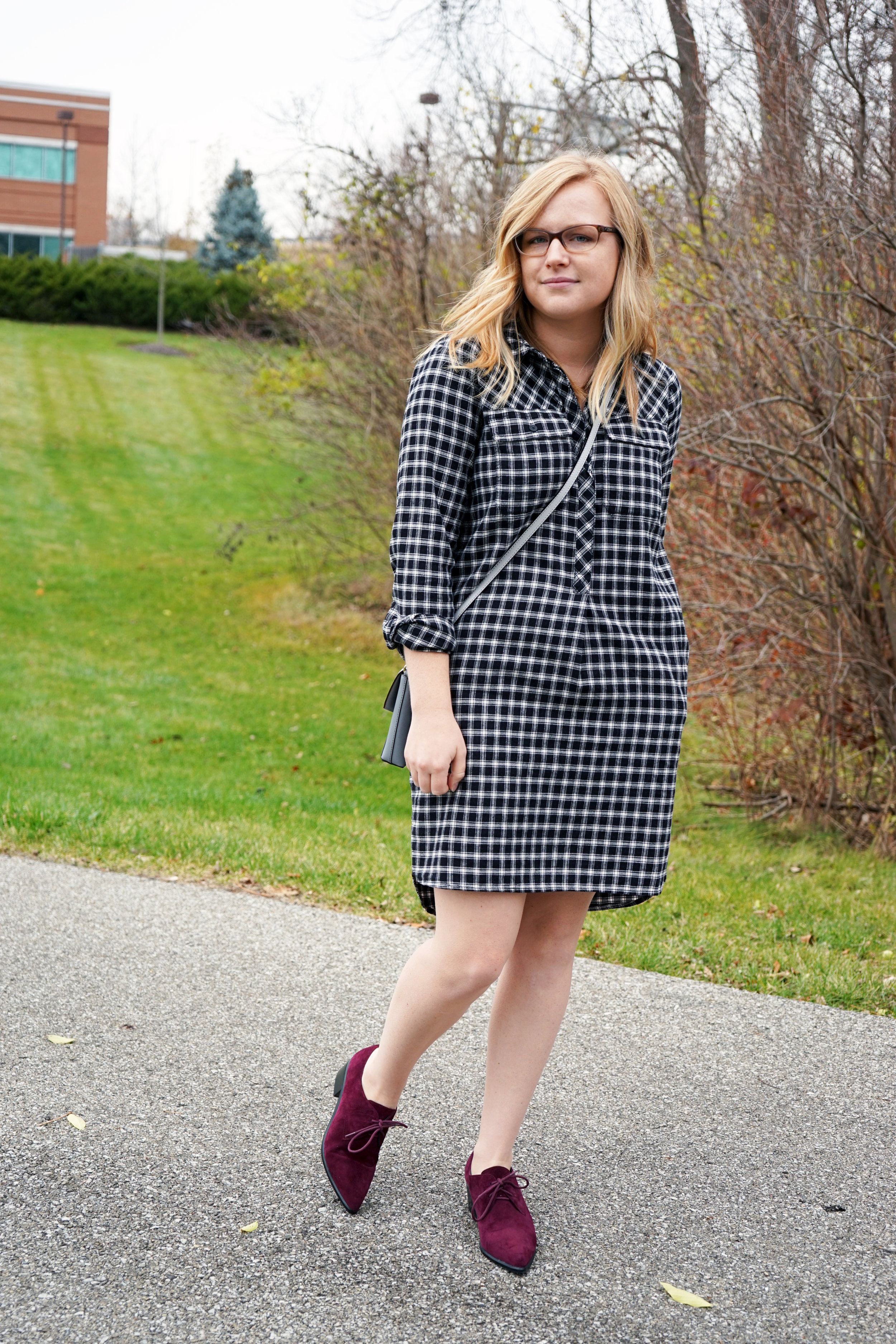 Maggie a la Mode - Madewell Flannel Shirtdress 2.JPG