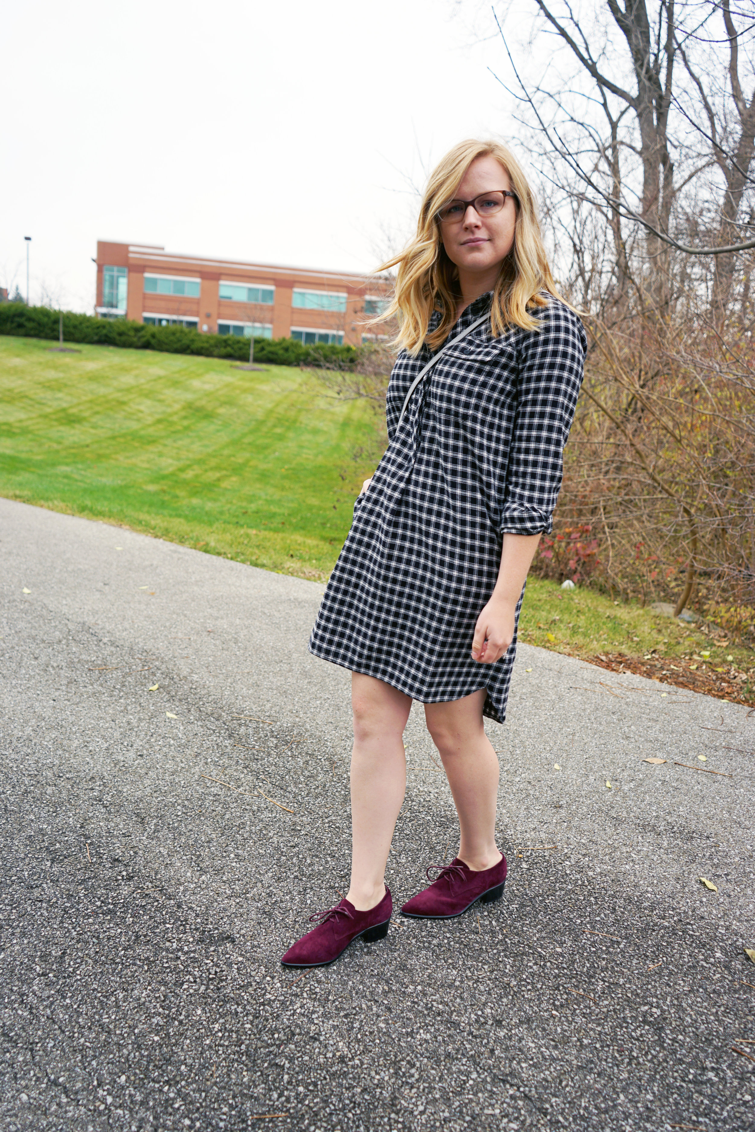 Maggie a la Mode - Madewell Flannel Shirtdress 4.JPG