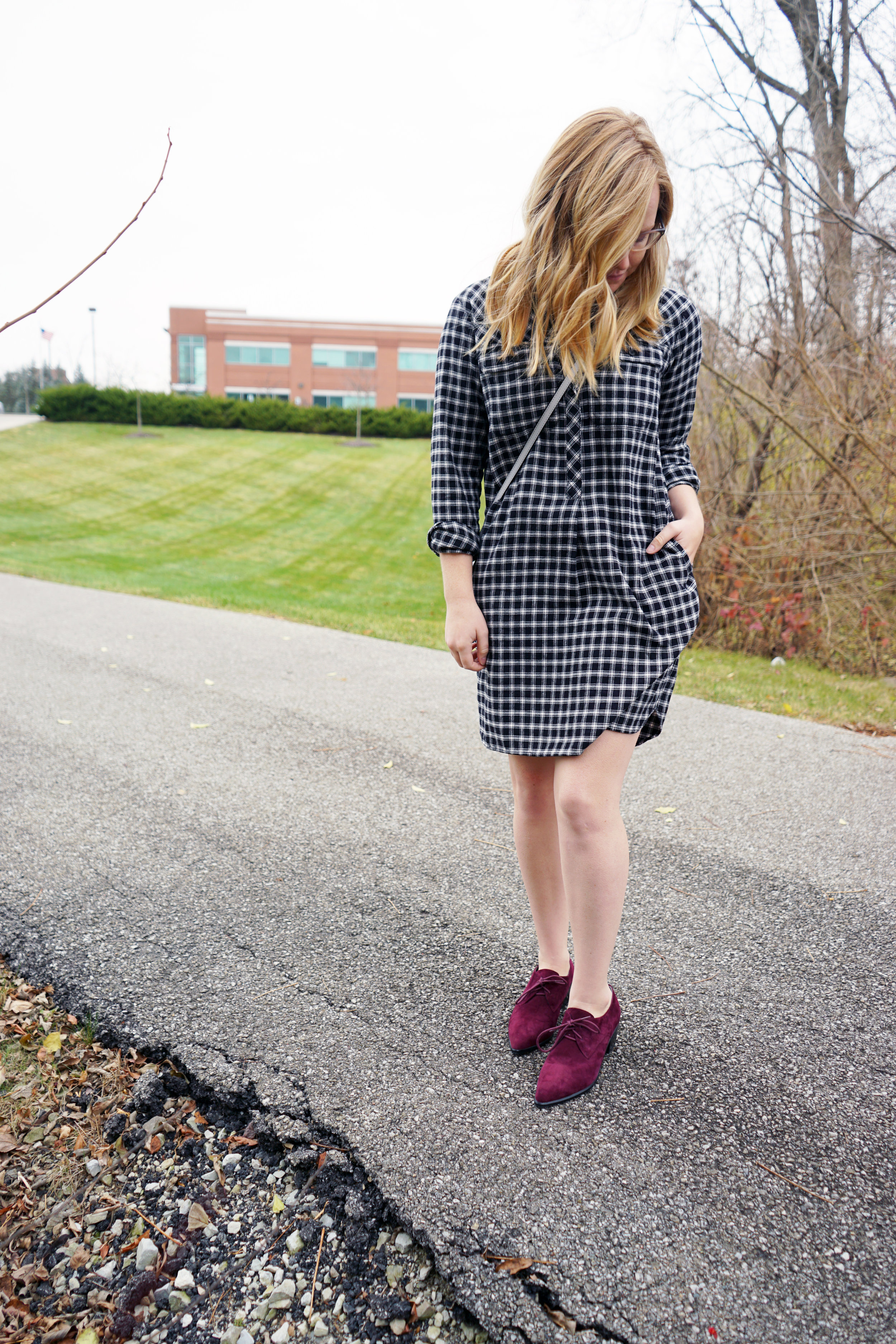 Maggie a la Mode - Madewell Flannel Shirtdress 6.JPG