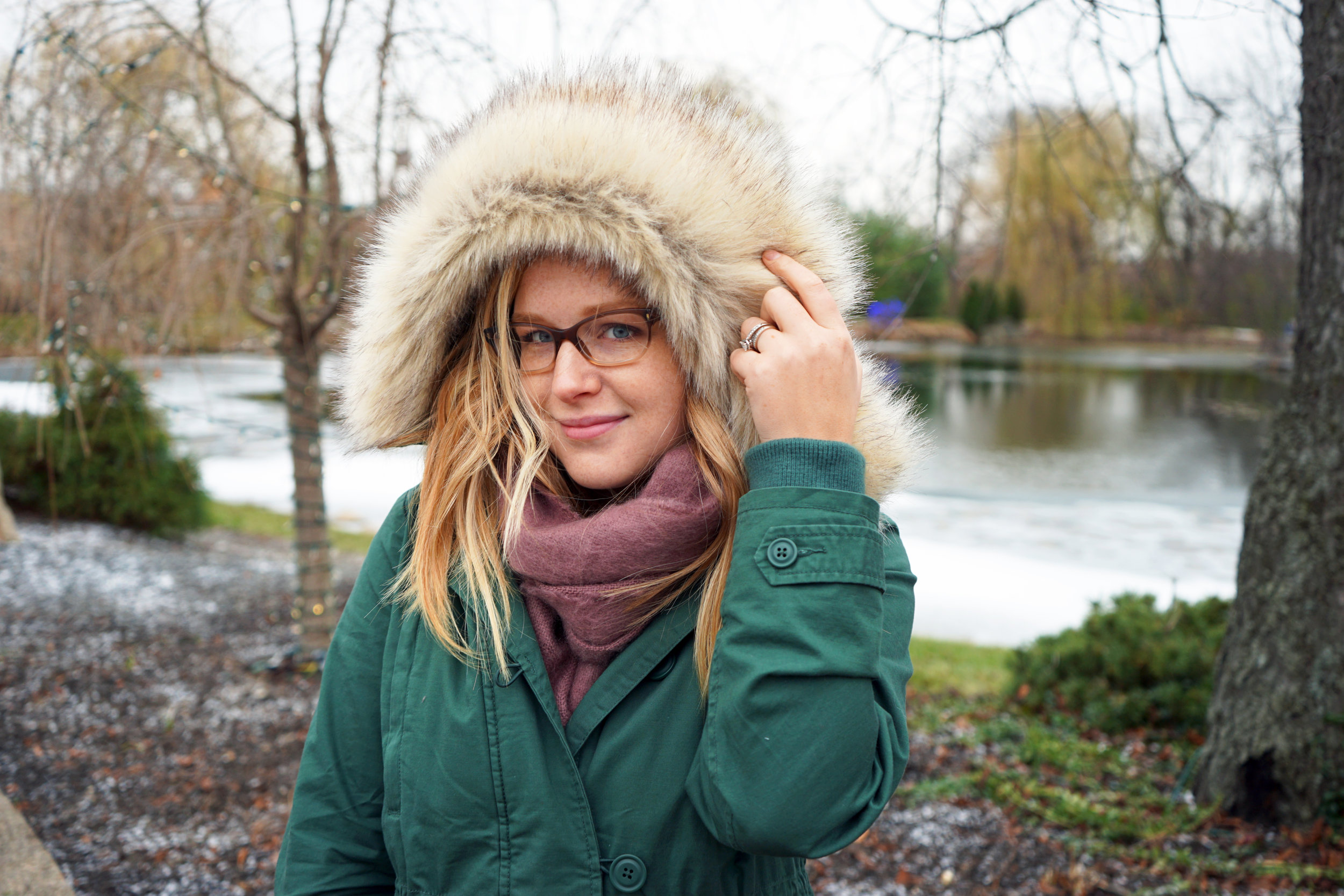 Maggie a la Mode - Asos Supersoft Long Woven Scarf Tassels Dusty Mauve/Pink, Gap 2-in-1 Hooded Parka Cucumber Peel