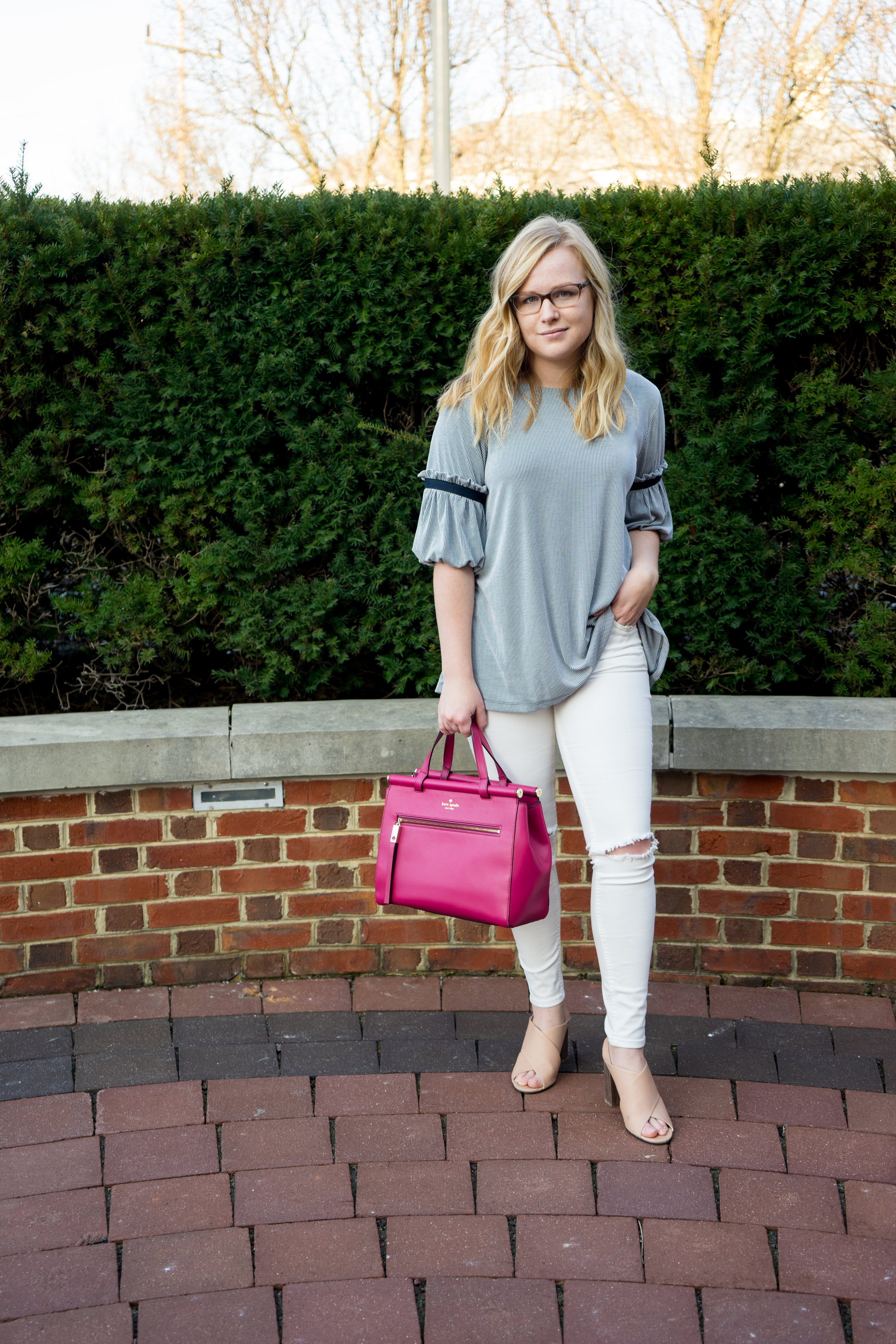 Maggie a la Mode - Bubble Sleeves Anthropologie Ro & De Armory Top-5.jpg
