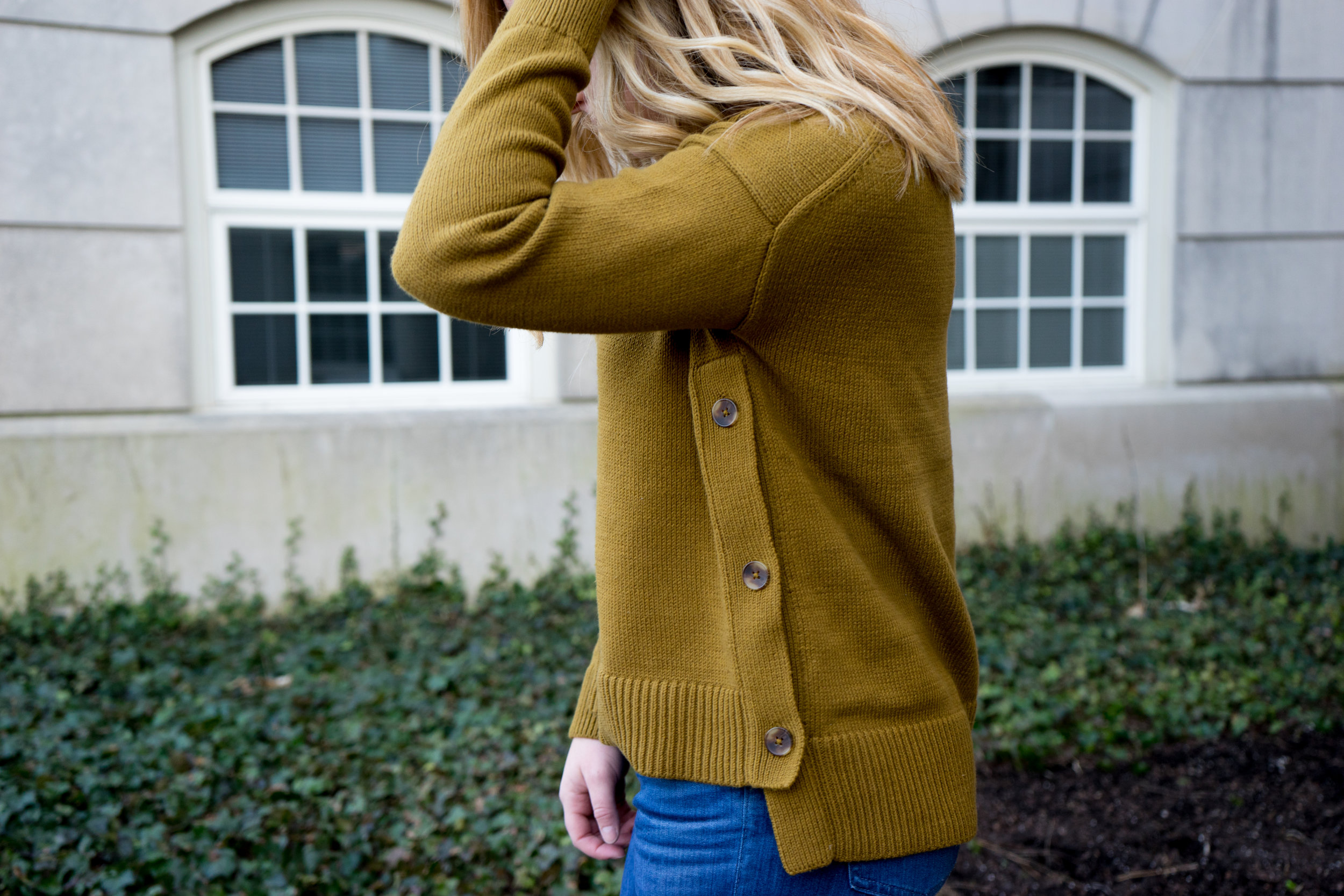 Maggie a la Mode - Madwell Brownstone Side Button Sweater-8.jpg